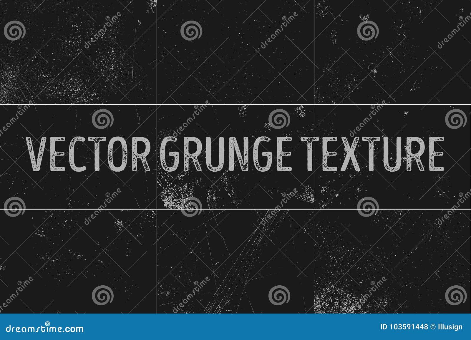 9 grunge stedelijke achtergronden De noodkorrel van het textuur vectorstof Grungy effect Vuil geploeterde samenvatting, affiche