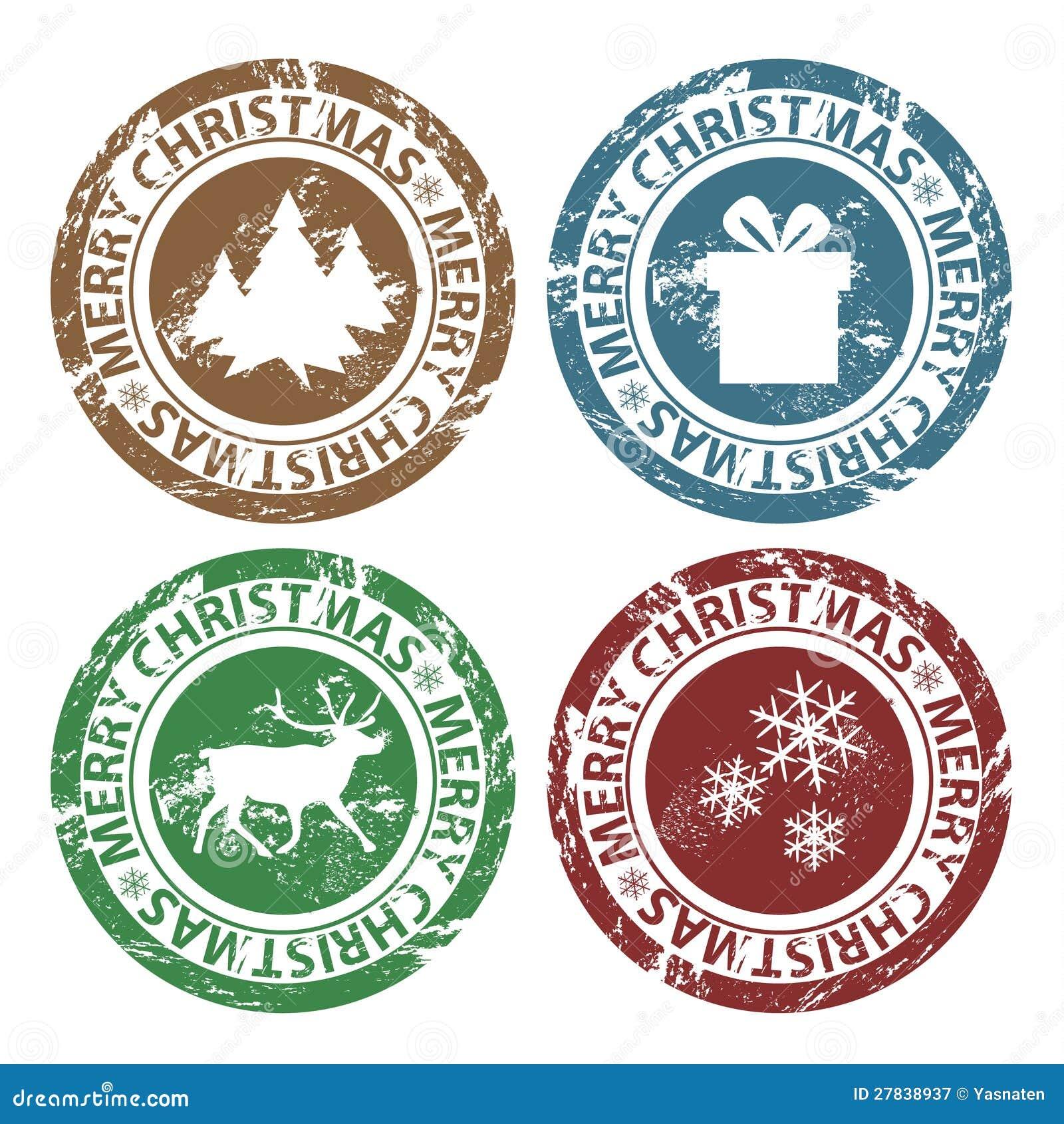 Grunge Stempel Der Frohen Weihnachten Stock Abbildung - Illustration ...