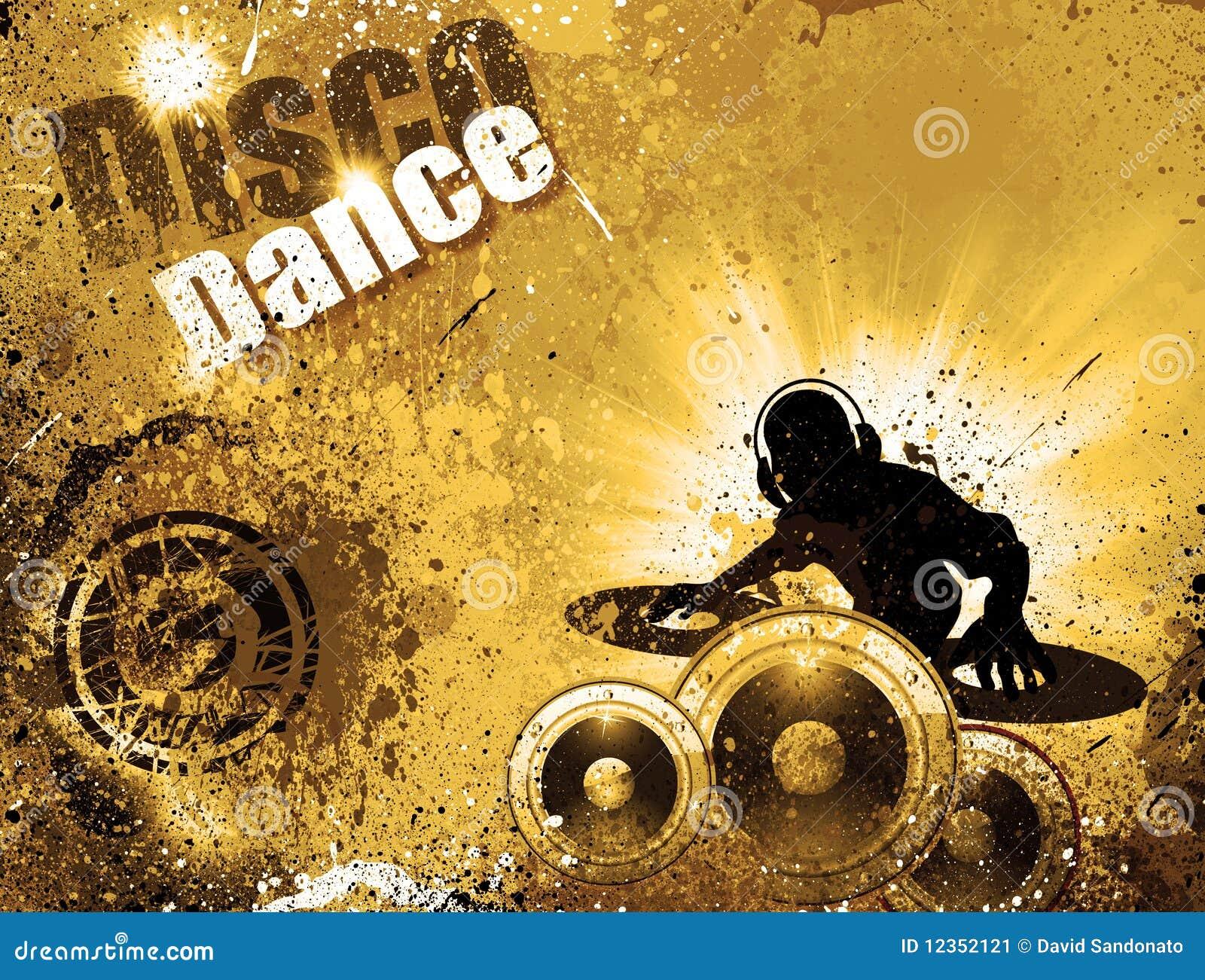 Grunge style DJ Disco Flyer Background