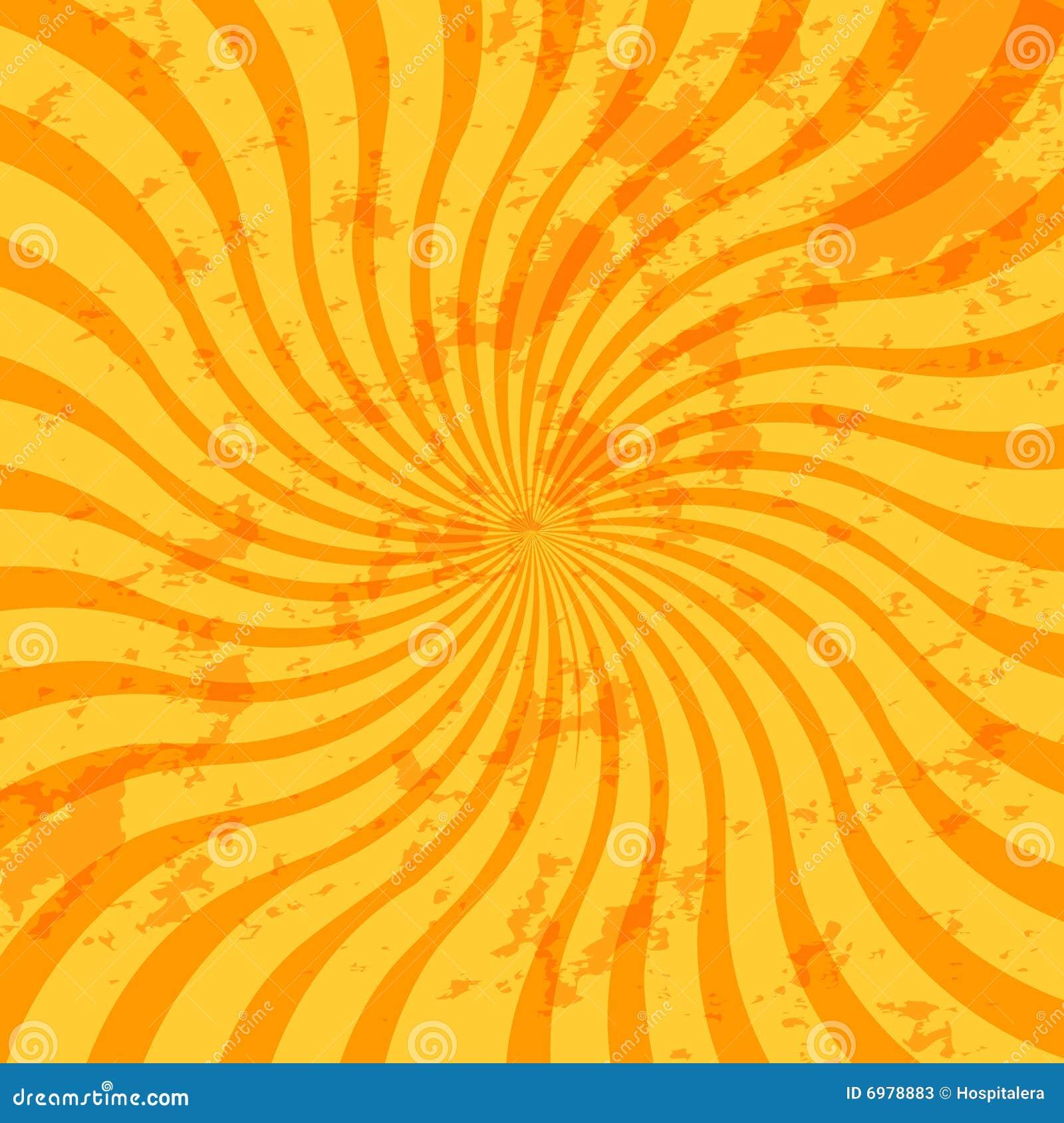 Sunburst Swirl Vector