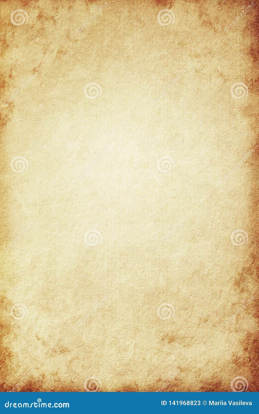 Grunge tło, beż papierowa tekstura, papier, stary, rocznik żółty, retro, szorstki, brązowić, plamy