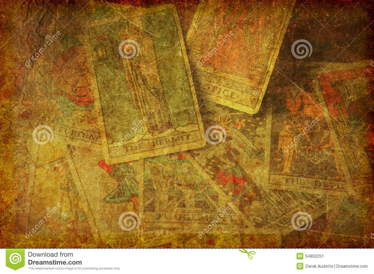 grunge tarot cards background textured stock photo