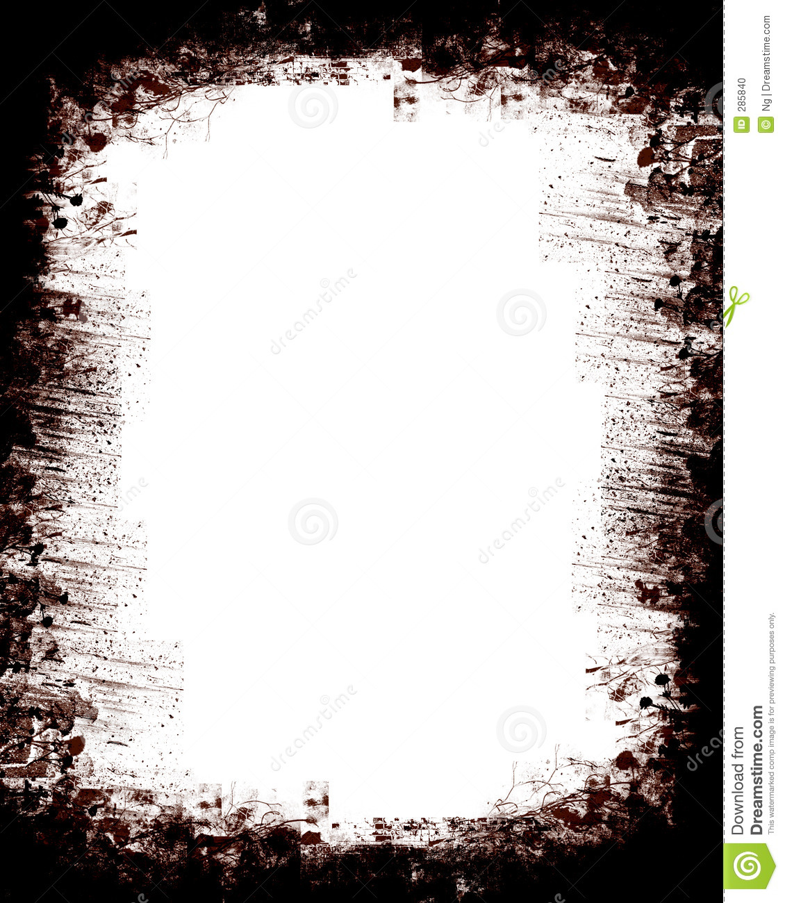 Grunge Textured Border Stock Illustration Image Of