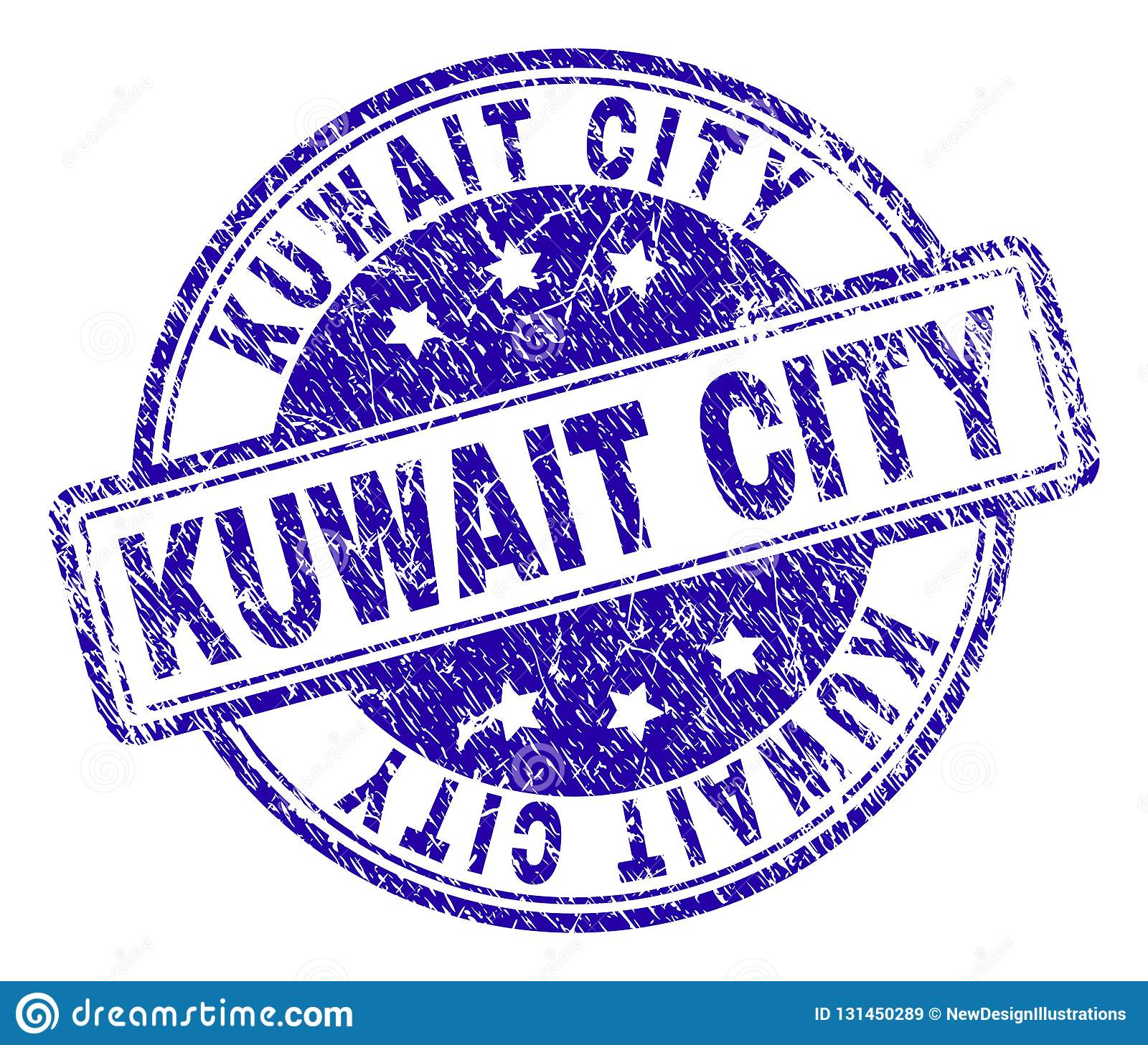 Grunge Textured KUWAIT CITY Stamp Seal Stock Vector
