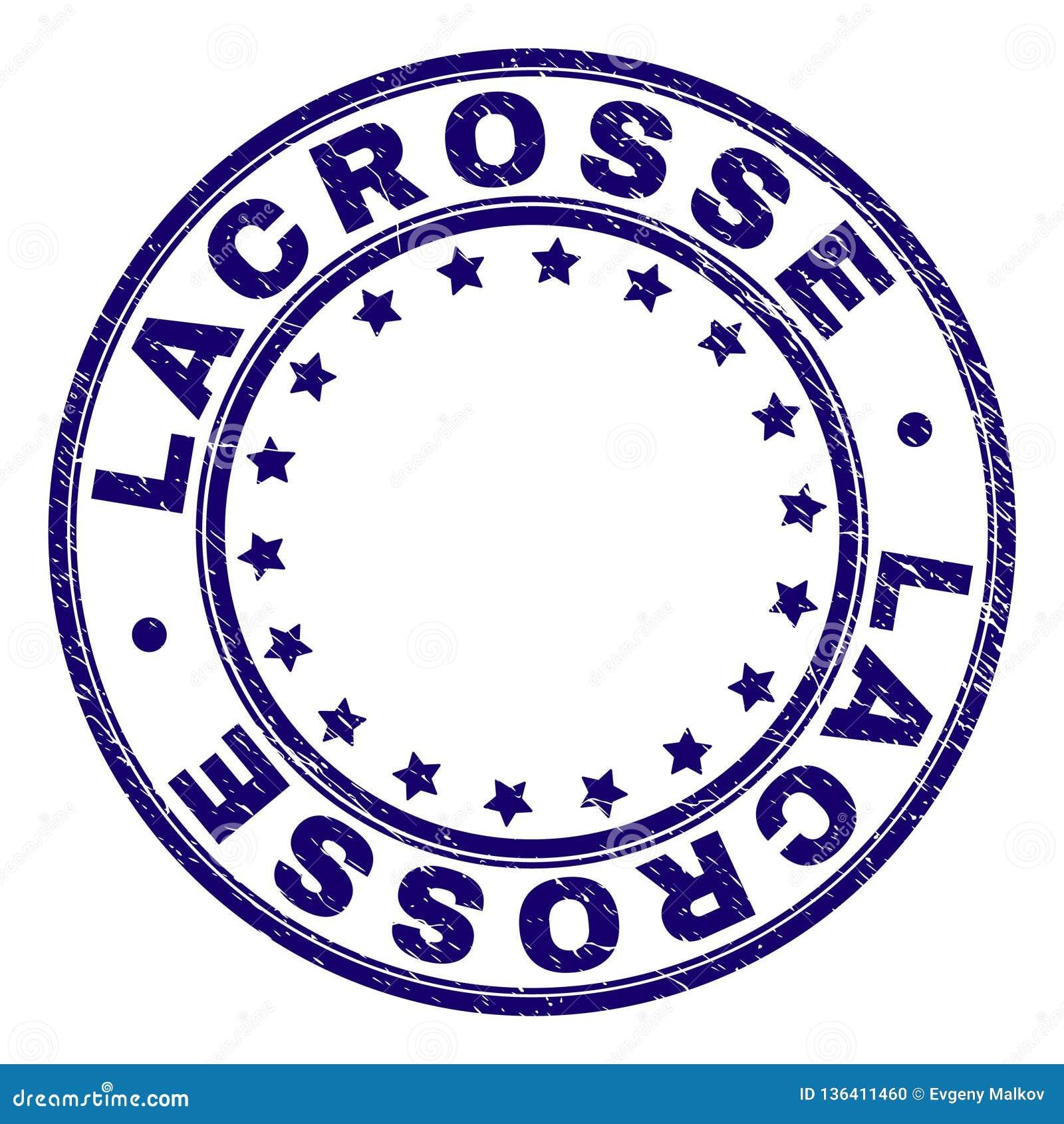 Grunge Textured LACROSSE Round znaczka foka