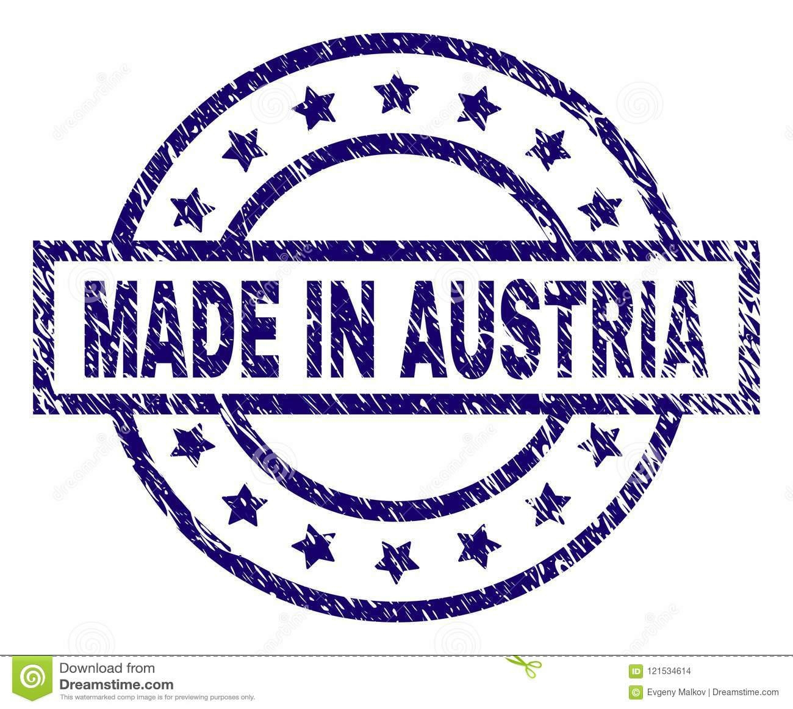 Grunge Textured MADE IN AUSTRIA Stamp Seal