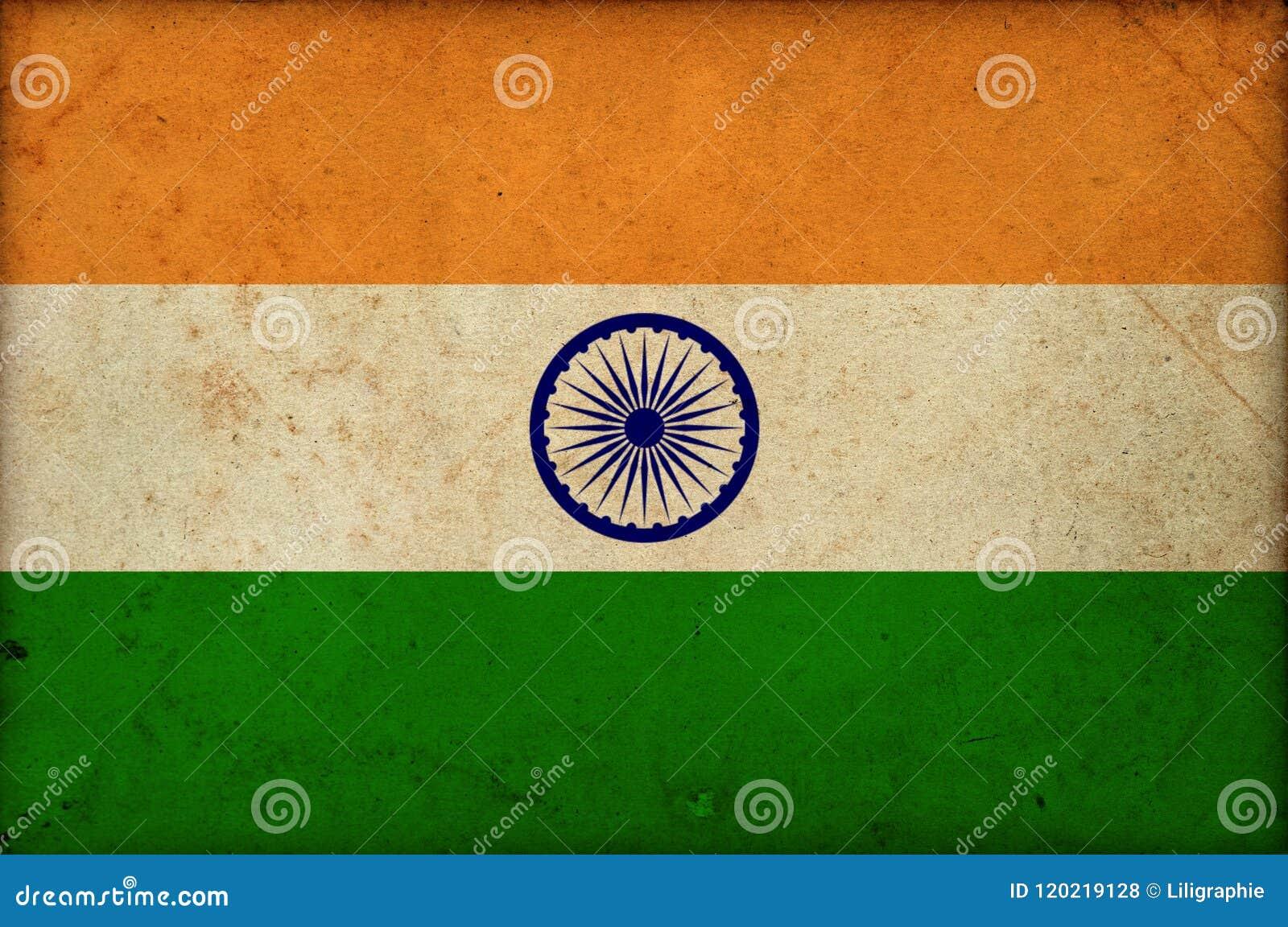 Grunge national indian flag India independence day