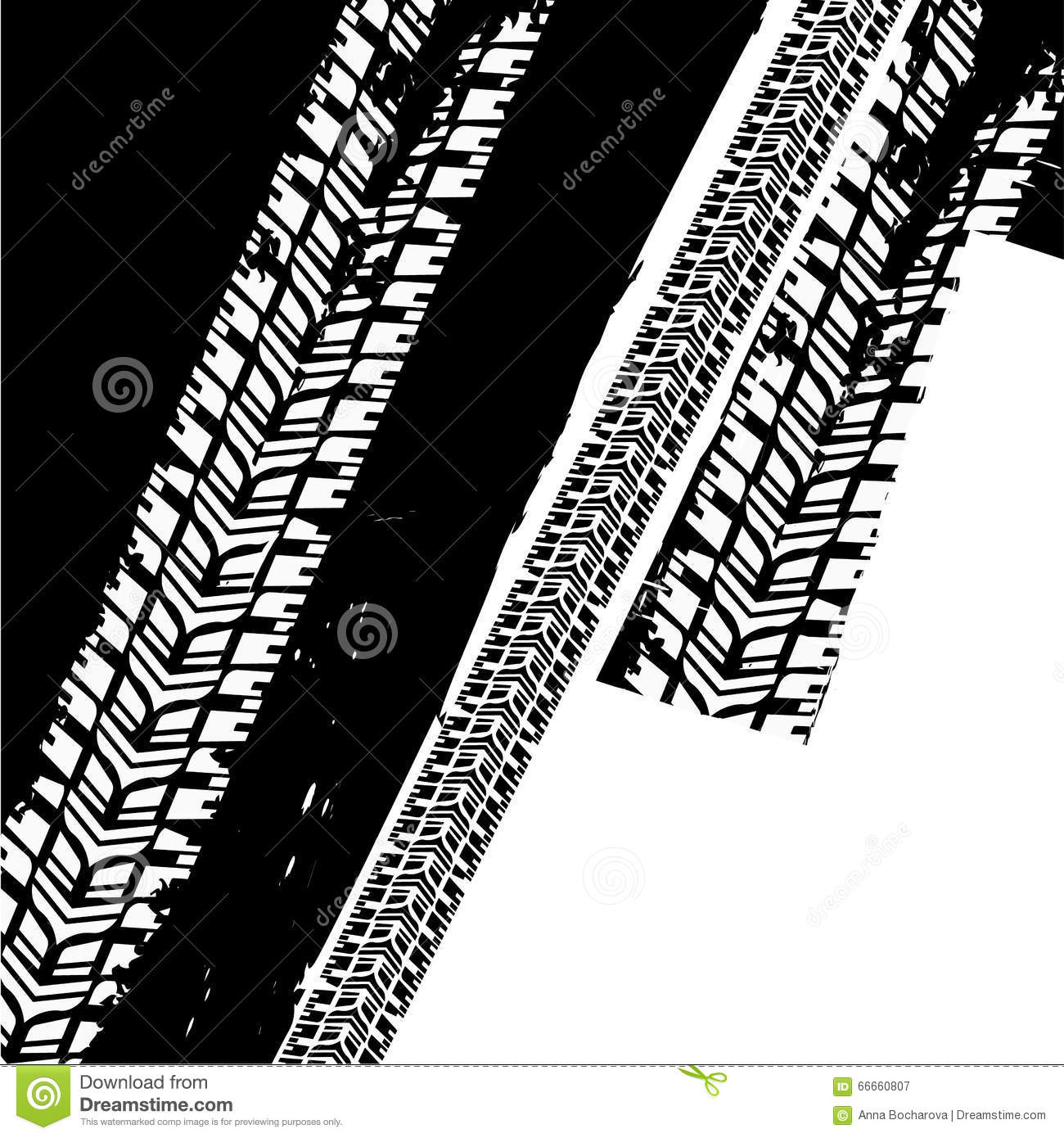 grunge tire tread  skid mark vector illustration cartoondealercom