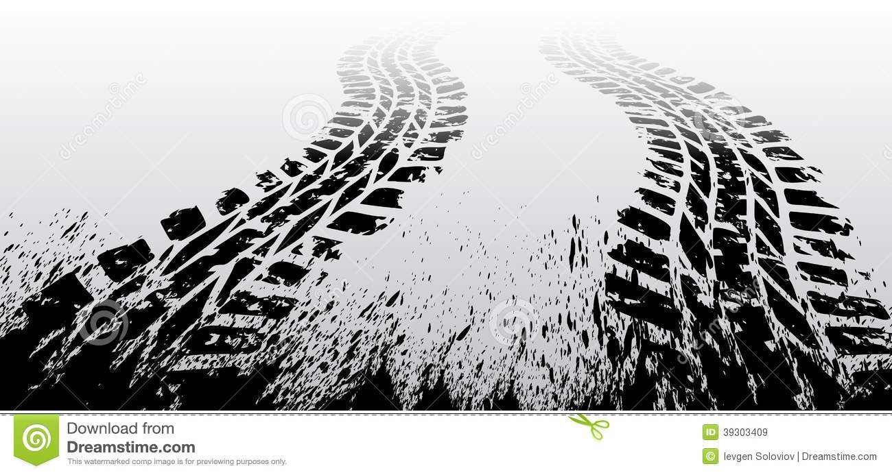Grunge tire track  Race Track Wallpaper Vector