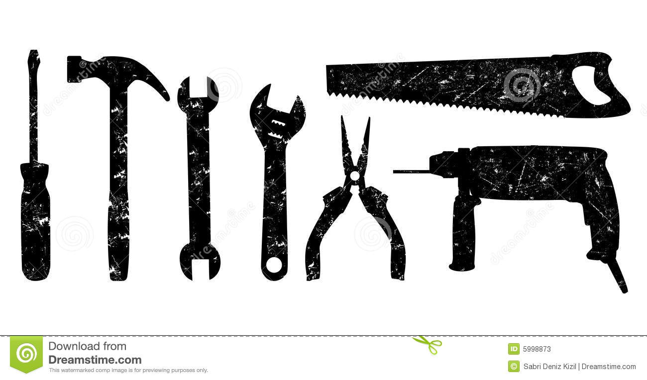Mechanic Tools Vector Grunge tools vector