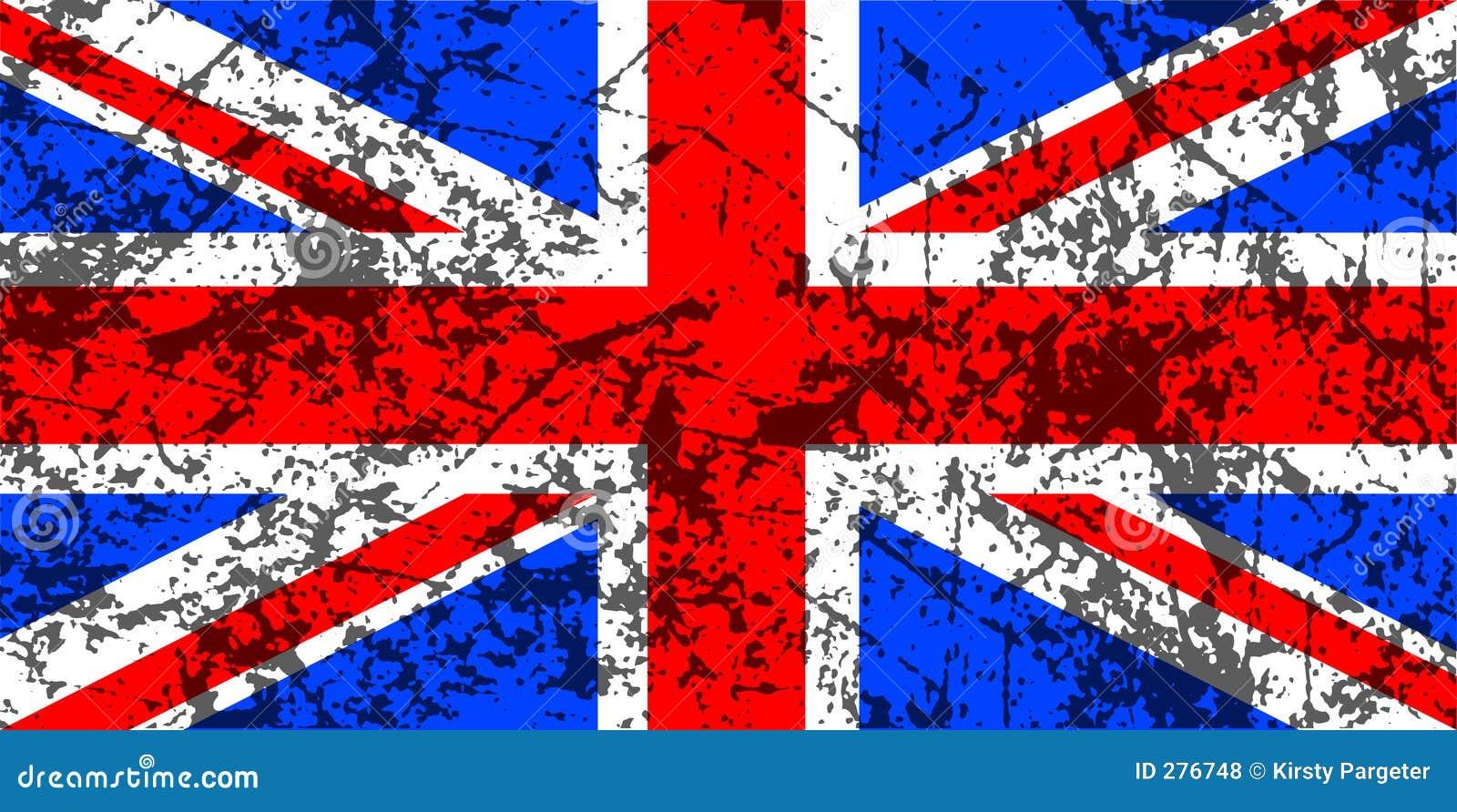 Grunge Union Jack Flag Royalty Free Stock Photos