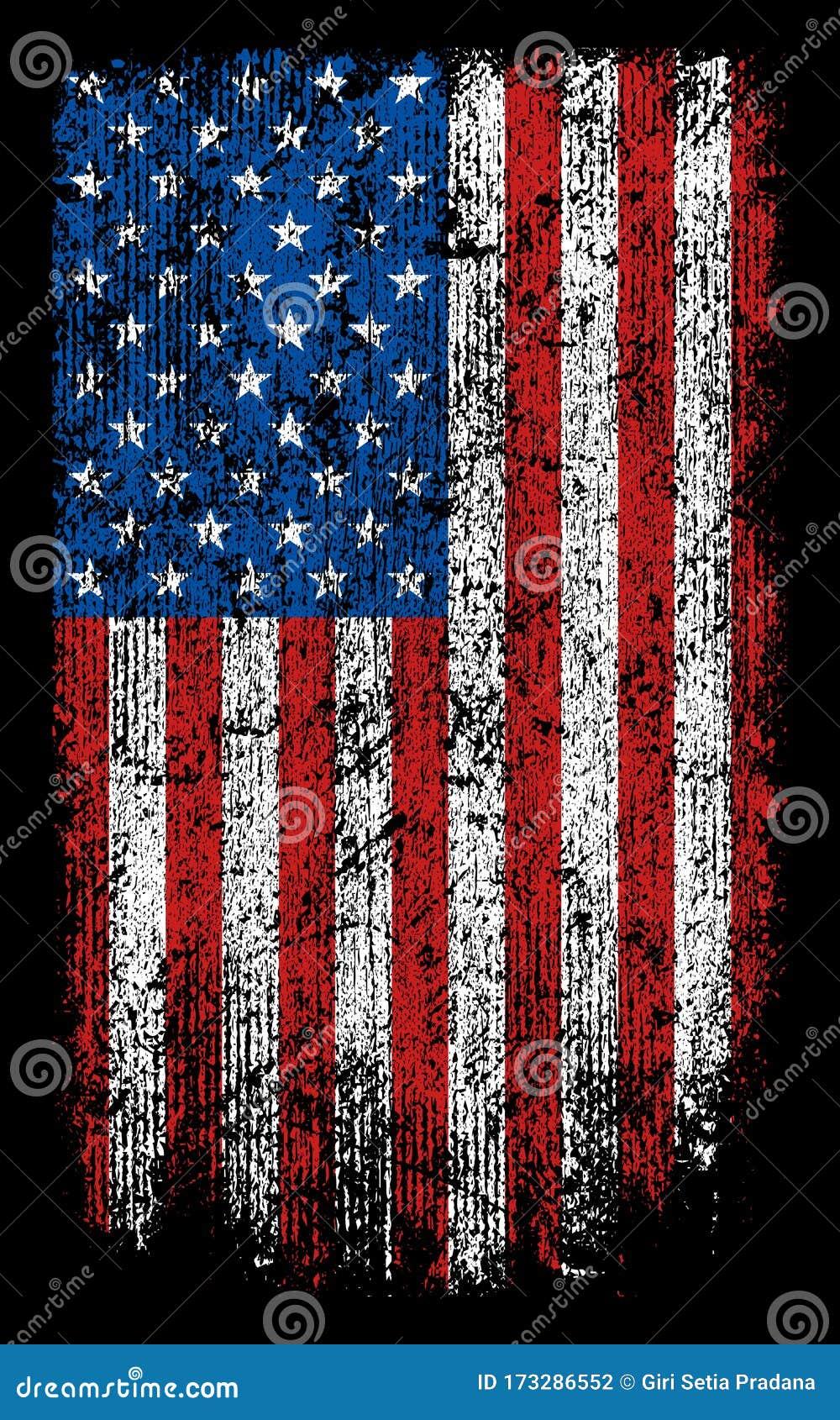 Grunge Usa Flag Wallpaper Background Vector Design Stock Vector Illustration Of Stars United 173286552