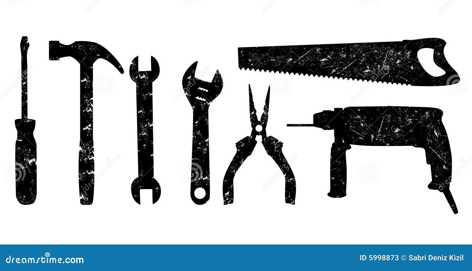 Grunge utiliza ferramentas o vetor