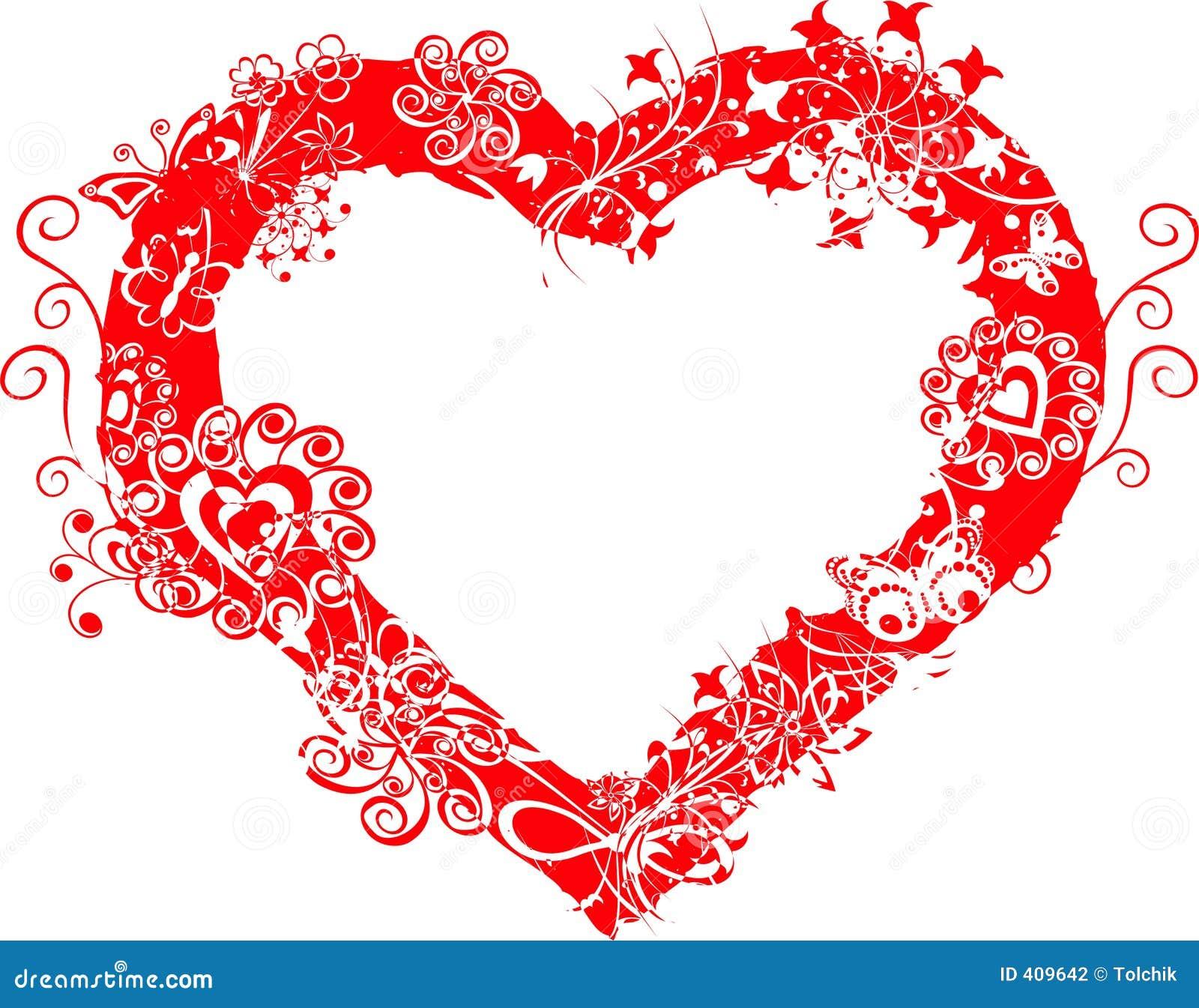 Grunge Valentine Frame, Heart, Vector Stock Photography - Image ...