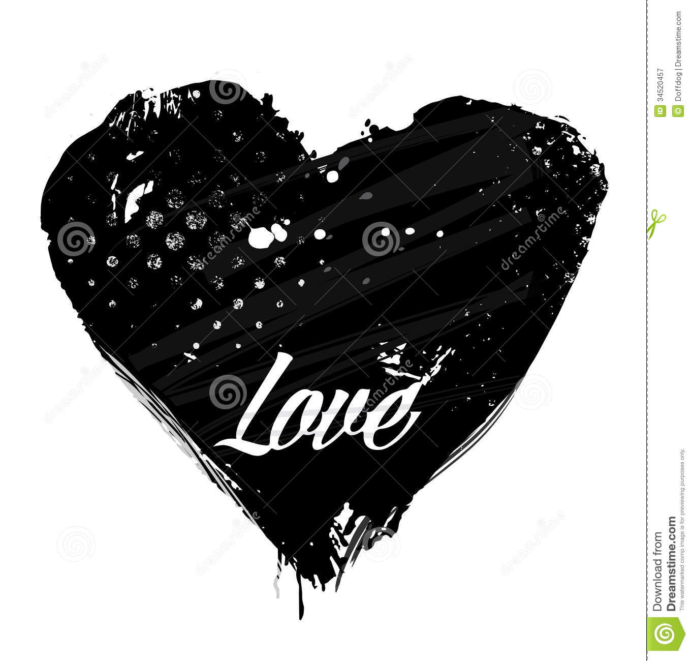 Grunge Vector Heart Royalty Free Stock Photography - Image ...