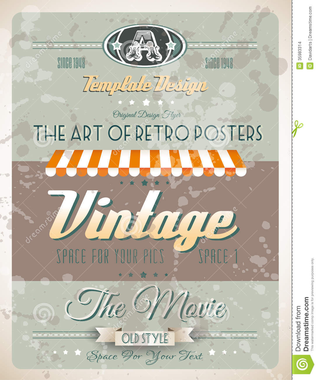 grunge vintage retro page template stock vector illustration of