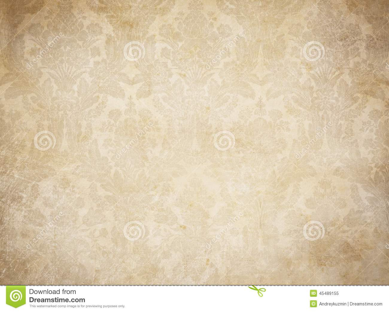 Grunge Vintage Wallpaper Background Pattern Stock