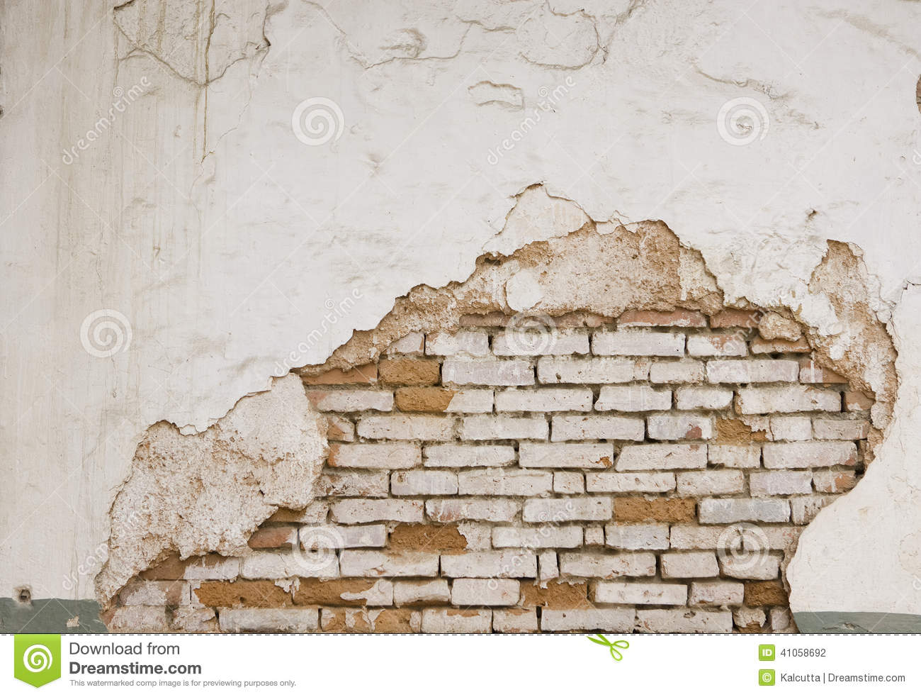 Grunge Wall Of The Old House Textured Background Stock