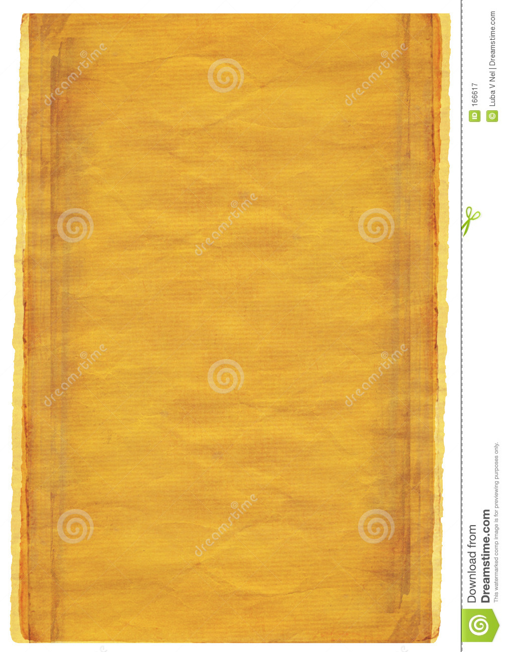 grunge warm yellow background with torn edges