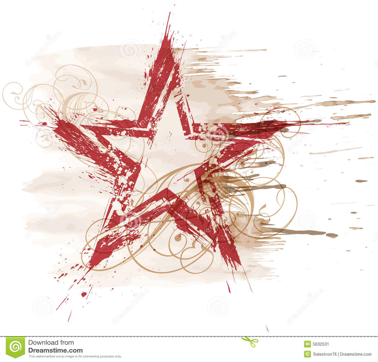 Grunge watercolor star