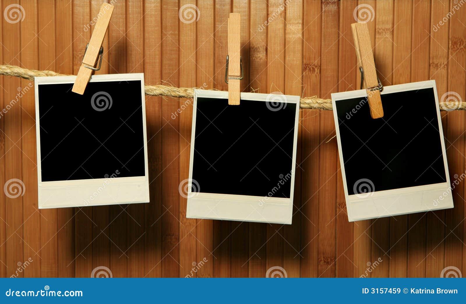 Grunge Weinlese-Polaroid-Felder