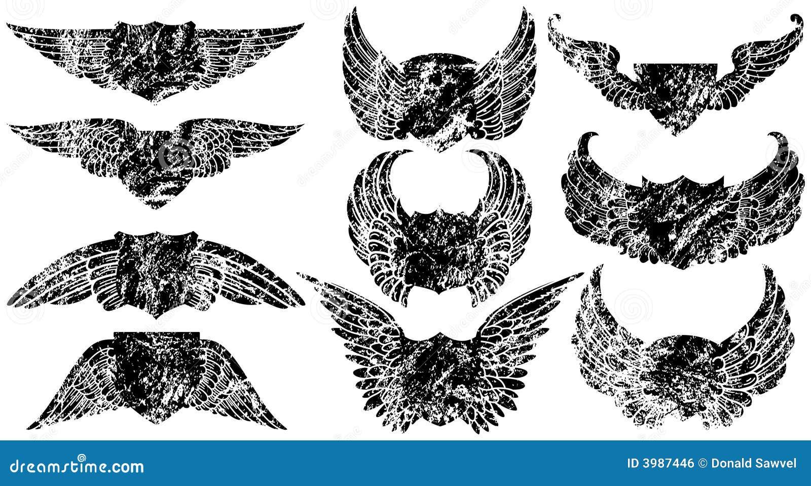 Grunge Winged Schilder
