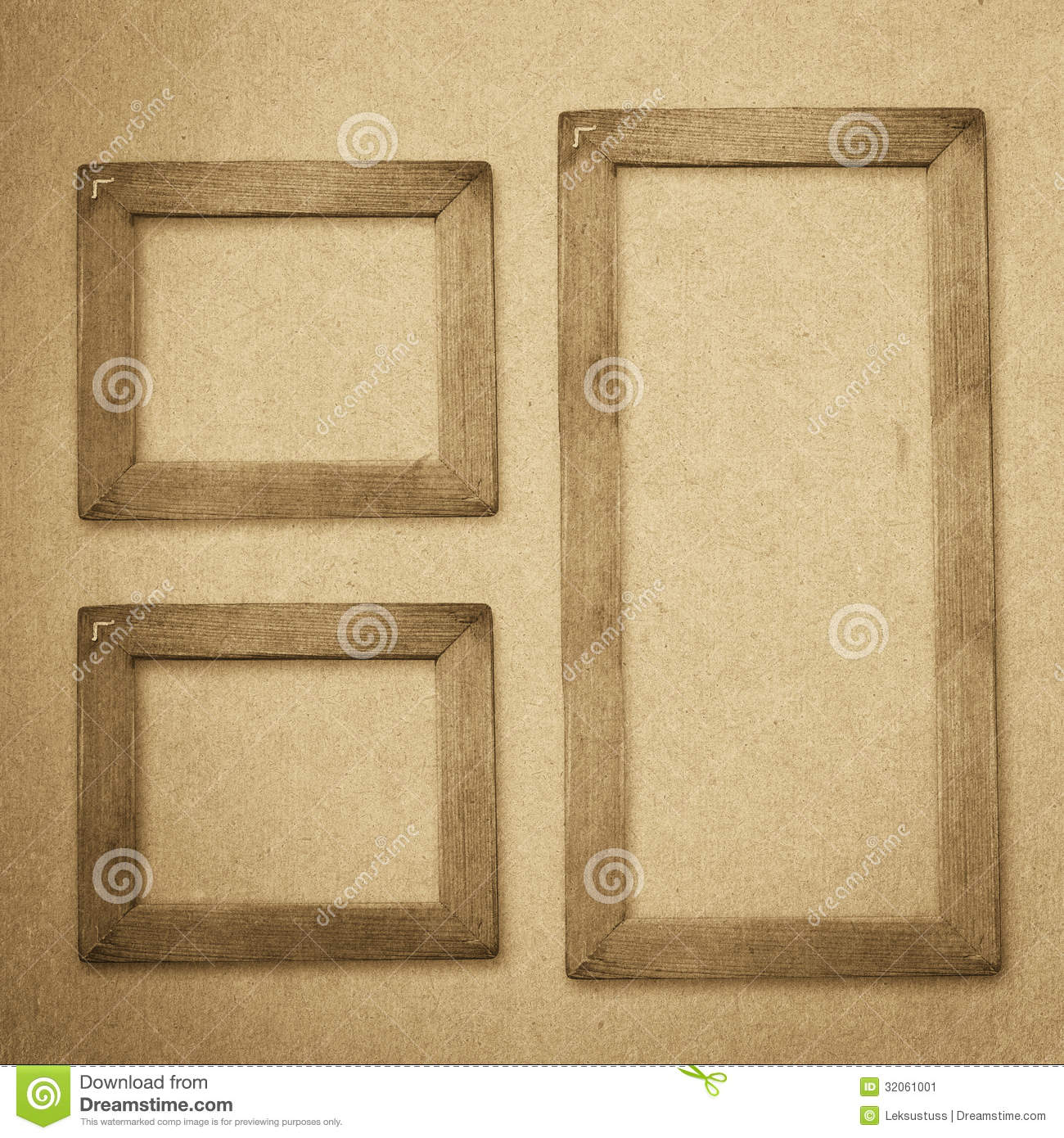Grunge Wood Frame Background, Vintage Paper Texture Stock Image ...