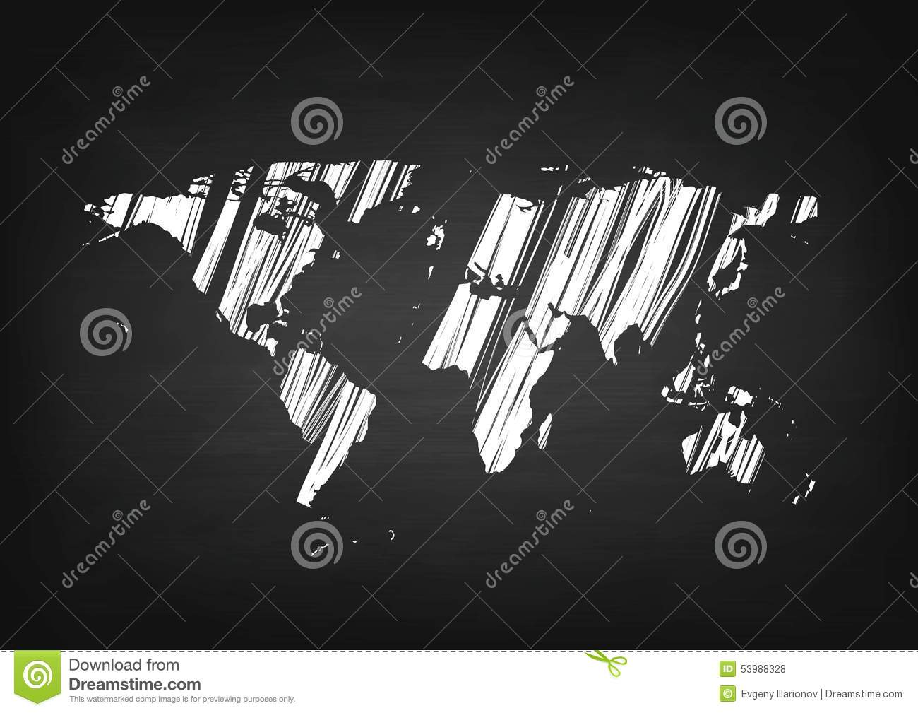 Grunge world map on black chalkboard stock vector illustration of grunge world map on black chalkboard royalty free vector gumiabroncs Images