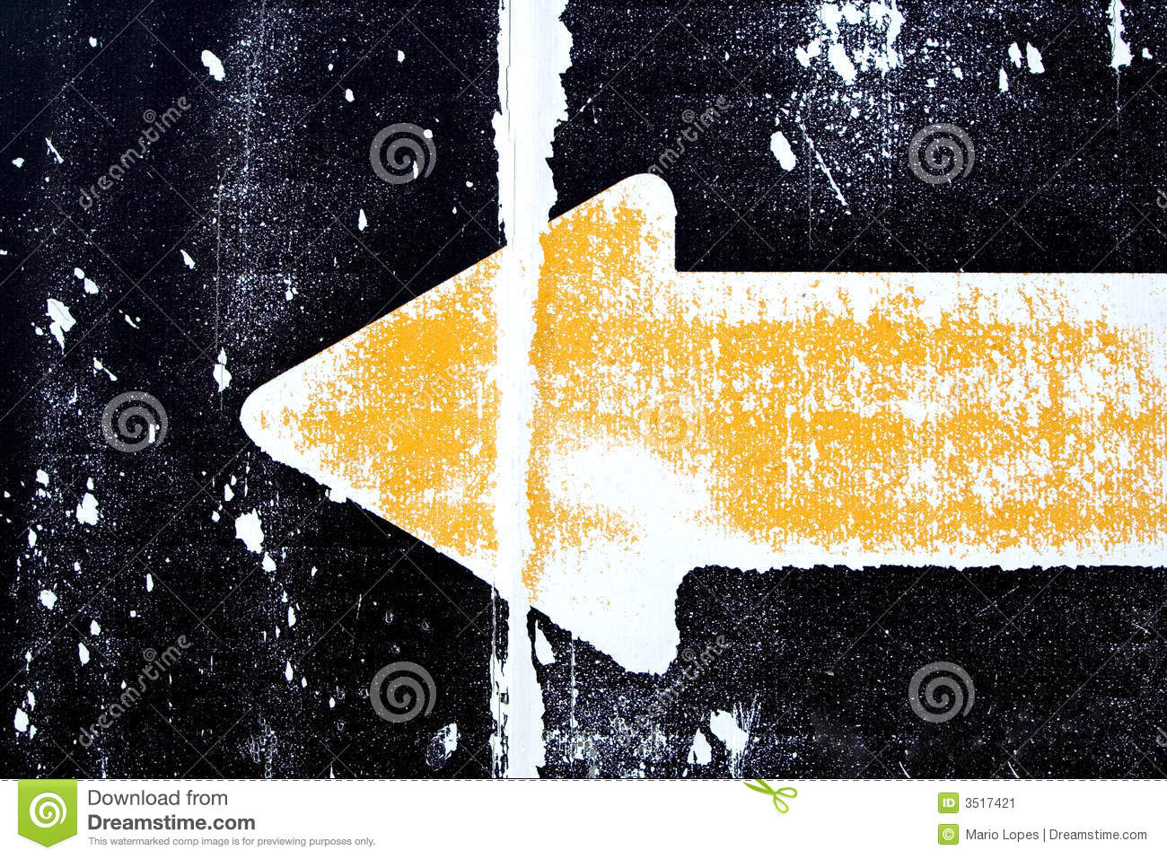 Grunge yellow arrow