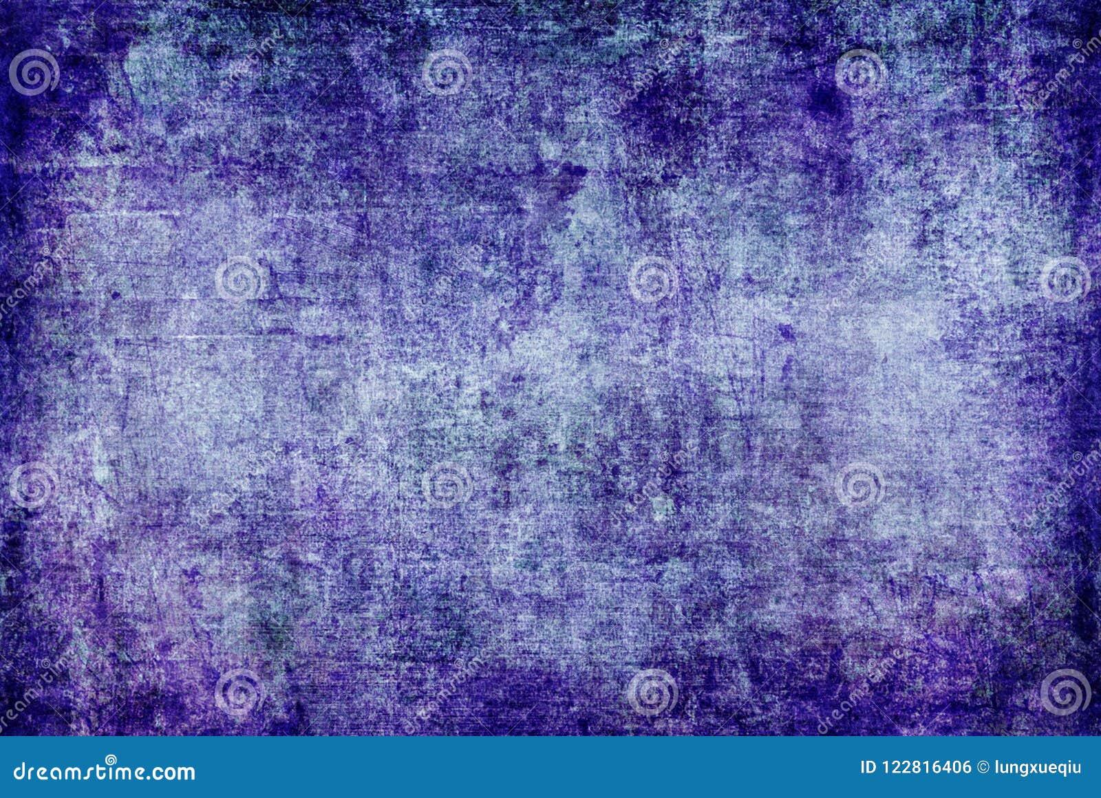 Grunge zmrok - błękitna Purpurowa Fiołkowa Ośniedziała Zniekształcająca Rozpadowa Stara Abstrakcjonistyczna Brezentowa obraz teks