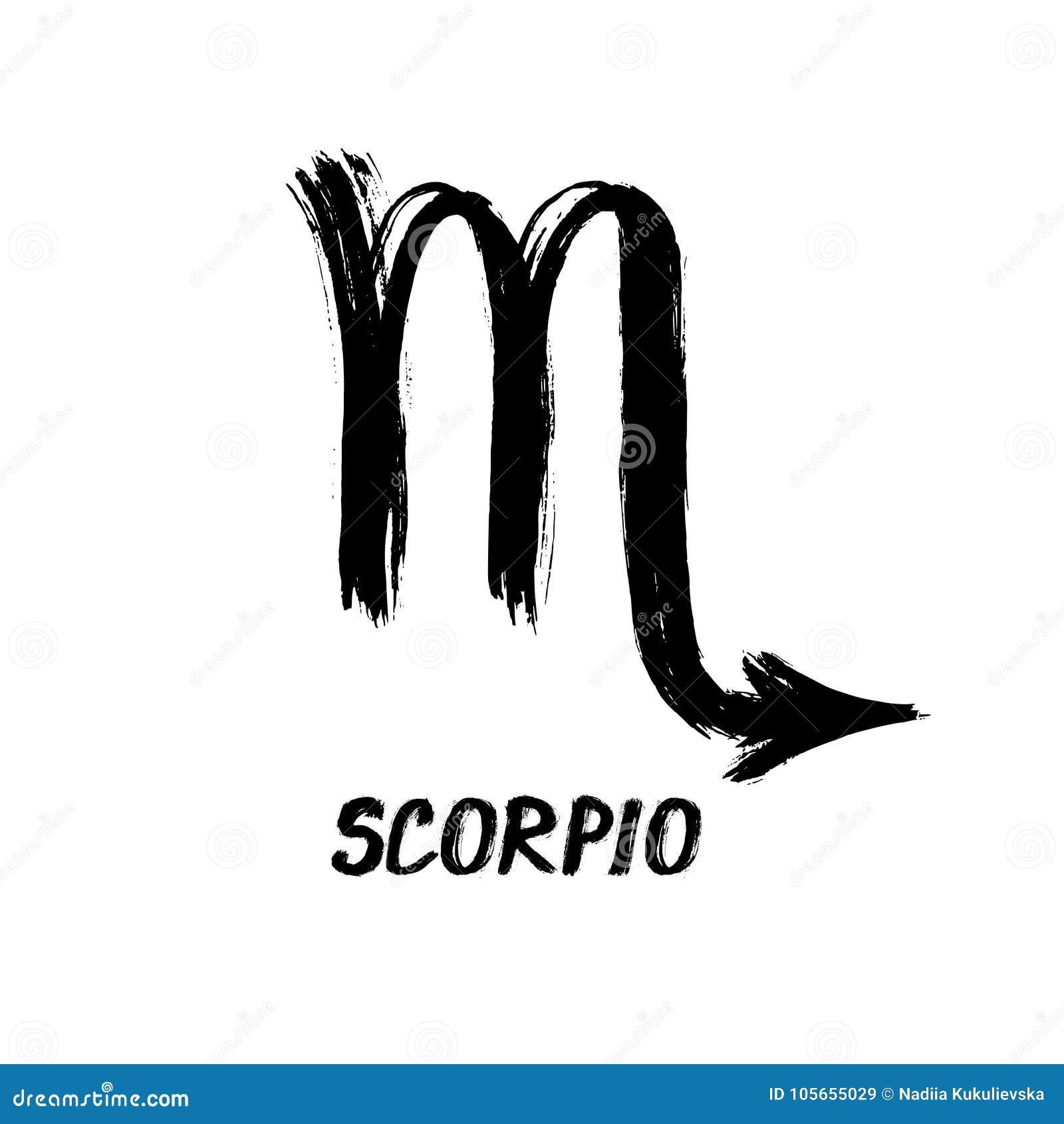 Grunge Zodiac Signs - Scorpio - The Scorpion Stock Vector