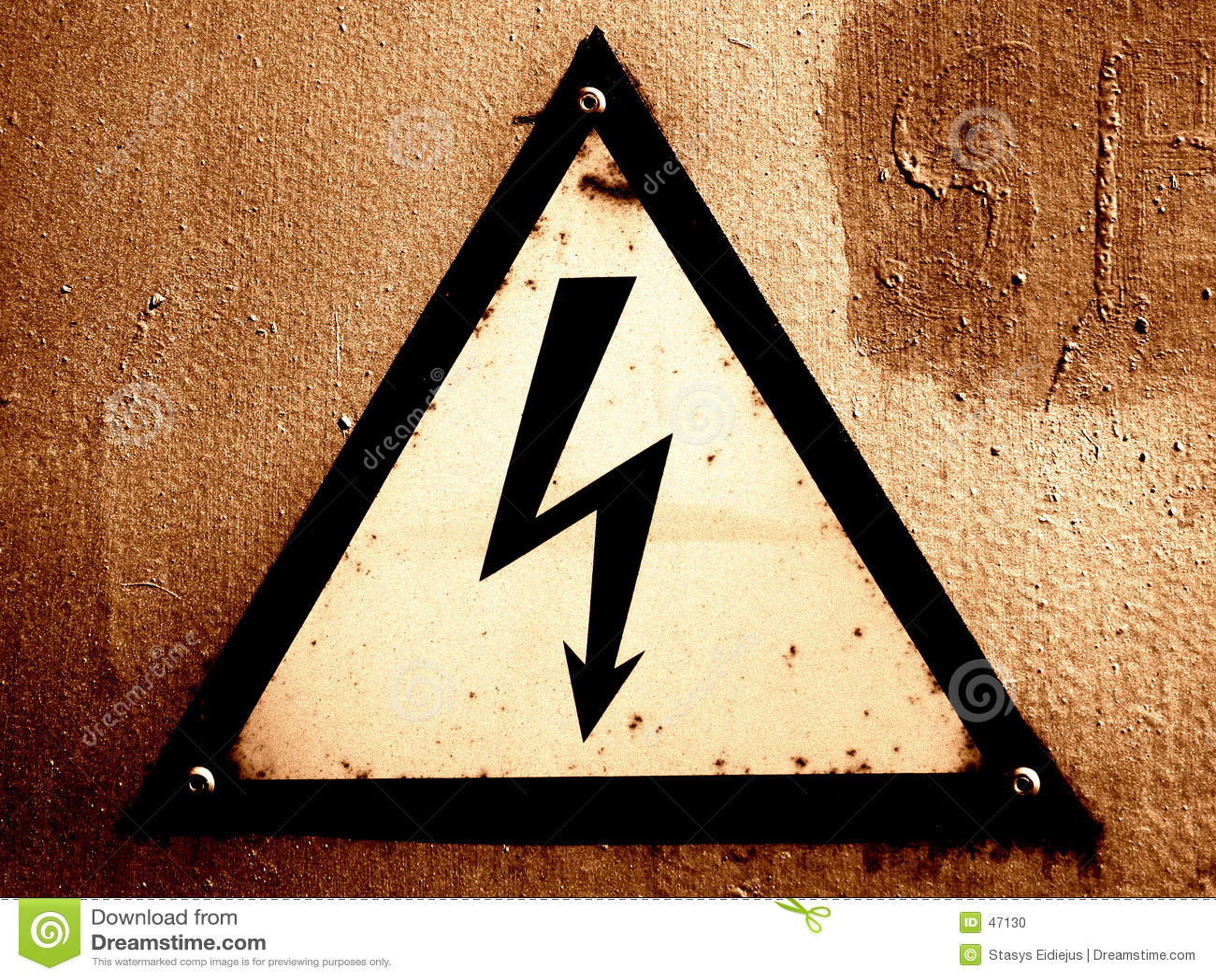 Grungy предупреждение знака