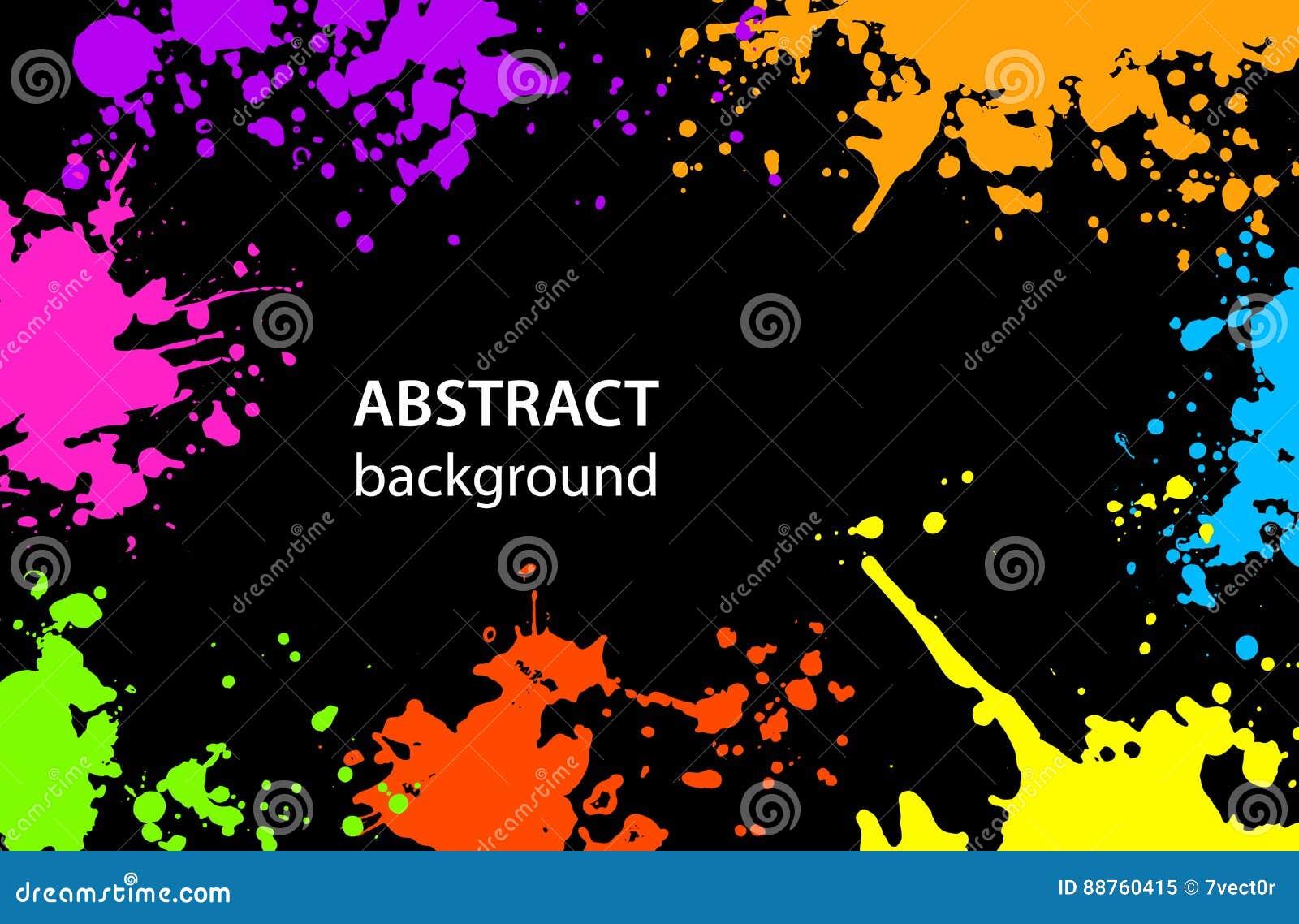 Grungy abstracte Verf ploetert Vlekkenachtergrond