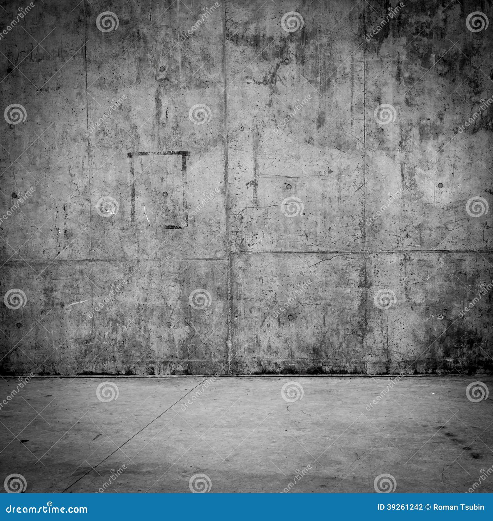 Grungy betongvägg och golv som bakgrund