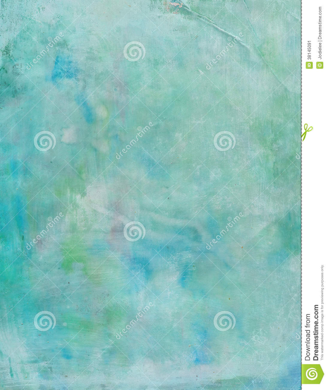 Grungy Blue And Green Painted Abstract Background Stock