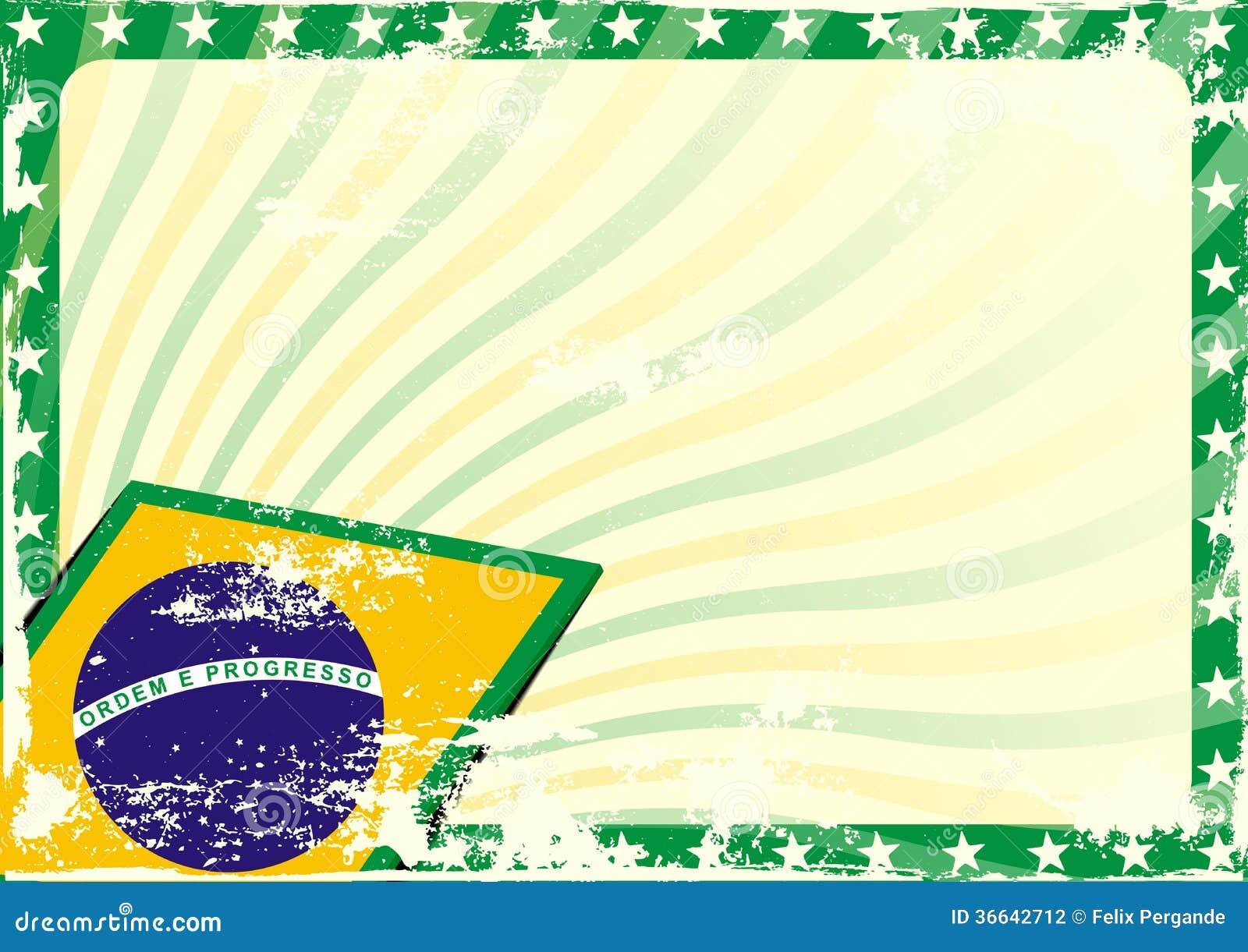 Grungy Brazilian Flag Background Stock Photography - Image: 36642712