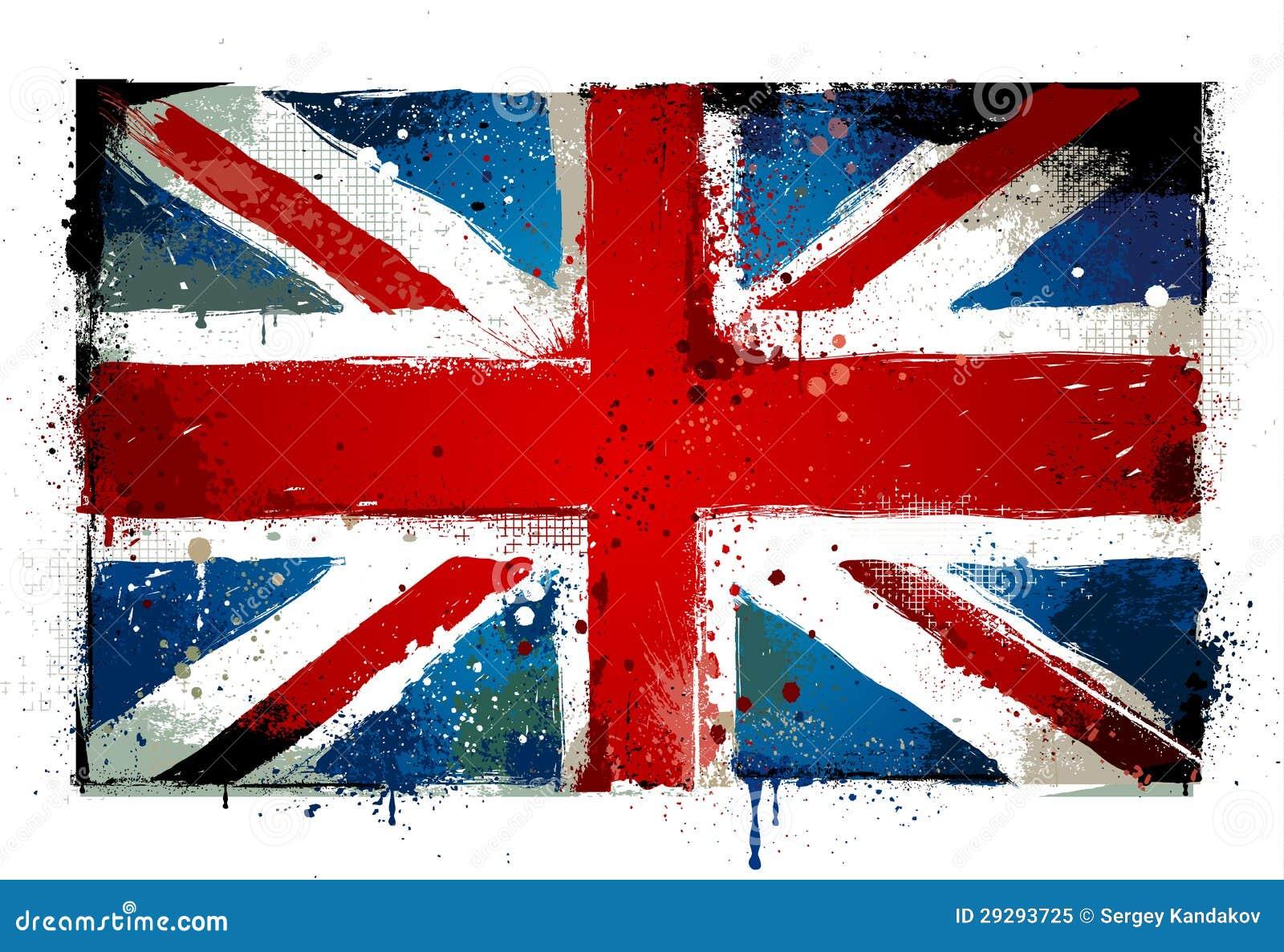 Grungy BRITISCHE Flagge