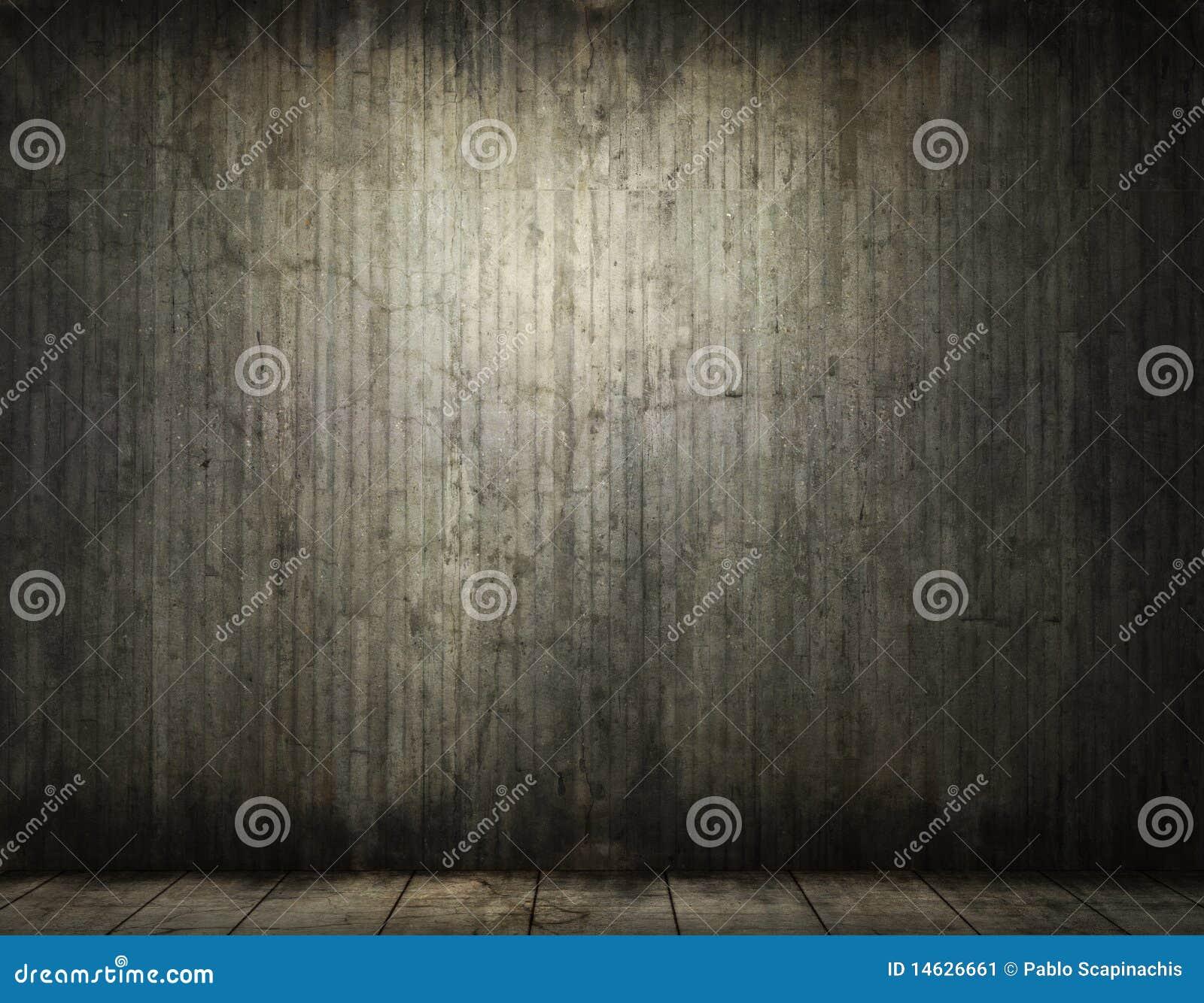 Grungy conrete room background