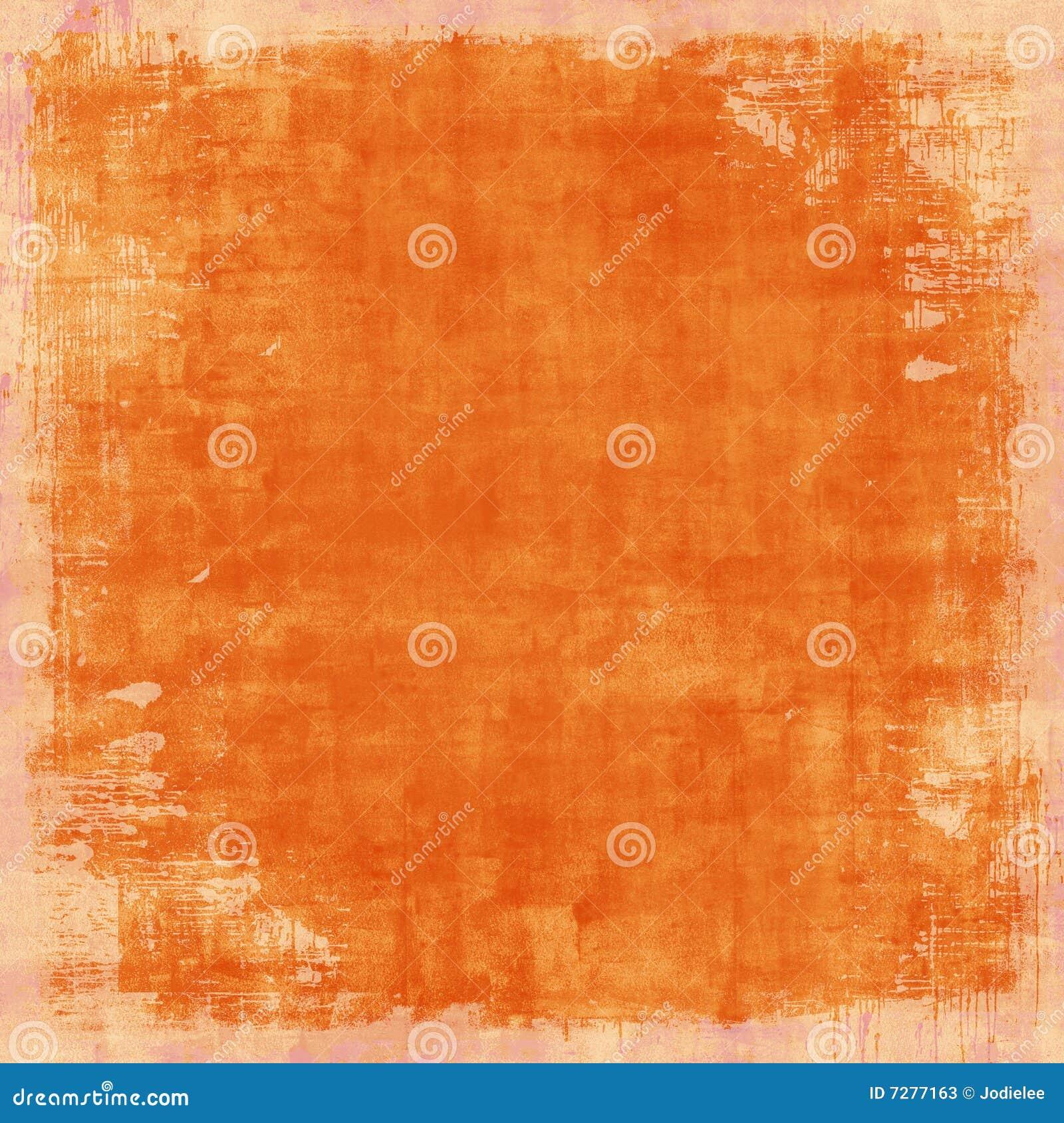 Grungy Distressed Orange Vintage Background Stock Photos