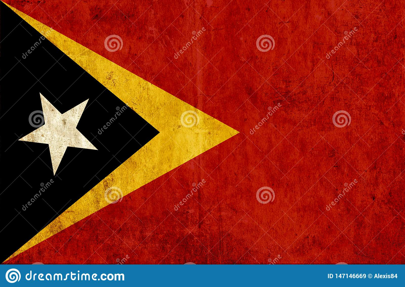Grungy document vlag van Oost-Timor