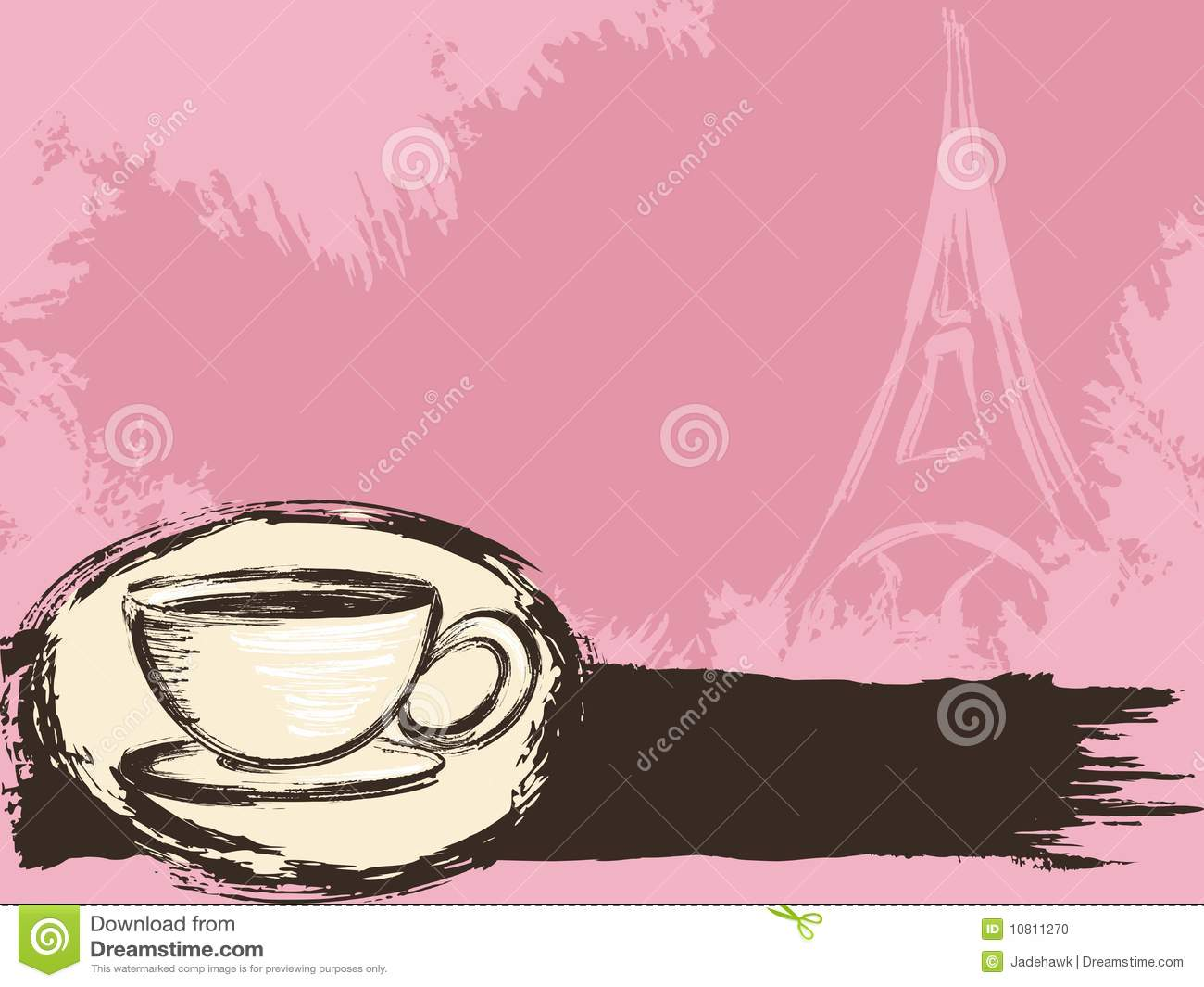 Grungy French Coffee Background Stock Photo Image 10811270
