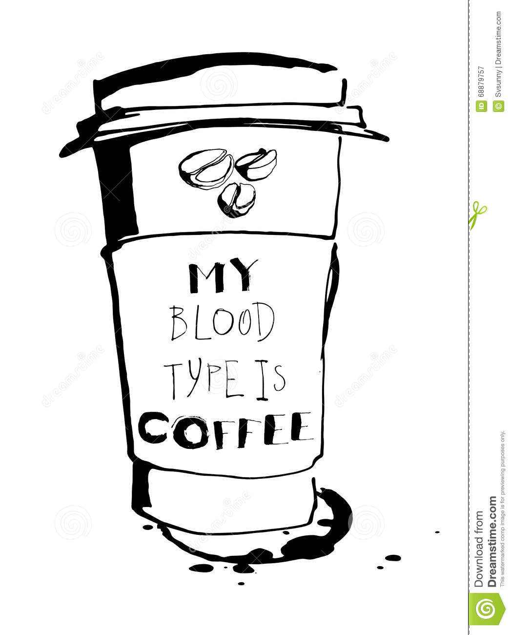 grungy hand drawn ink paper cup to go take away roasted beans a grungy hand drawn ink paper cup to go take away roasted beans a