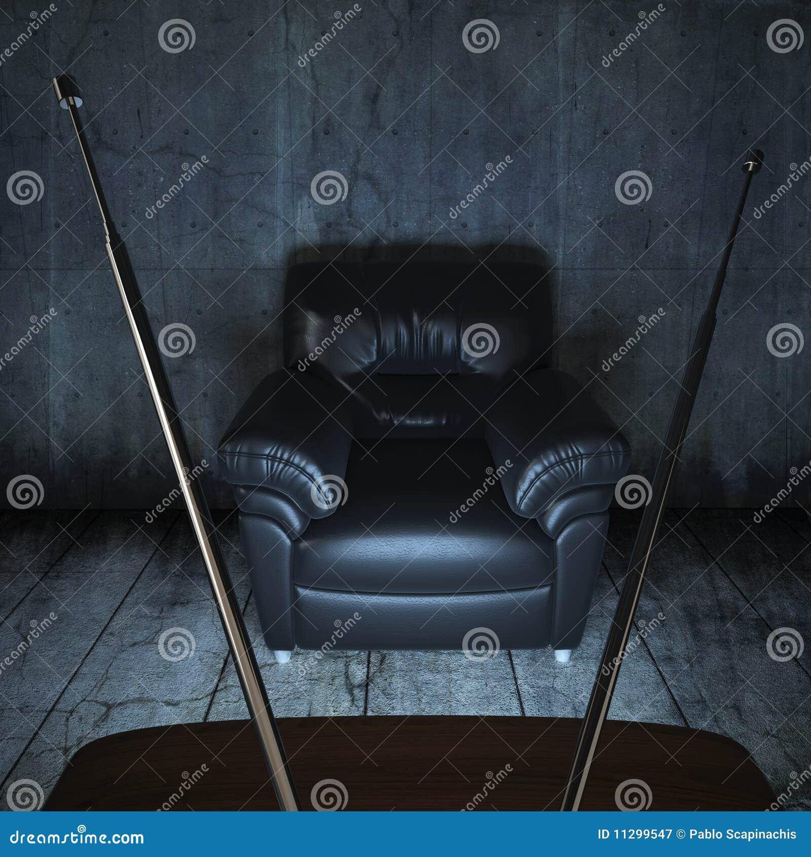 Grungy lokaltv för soffa