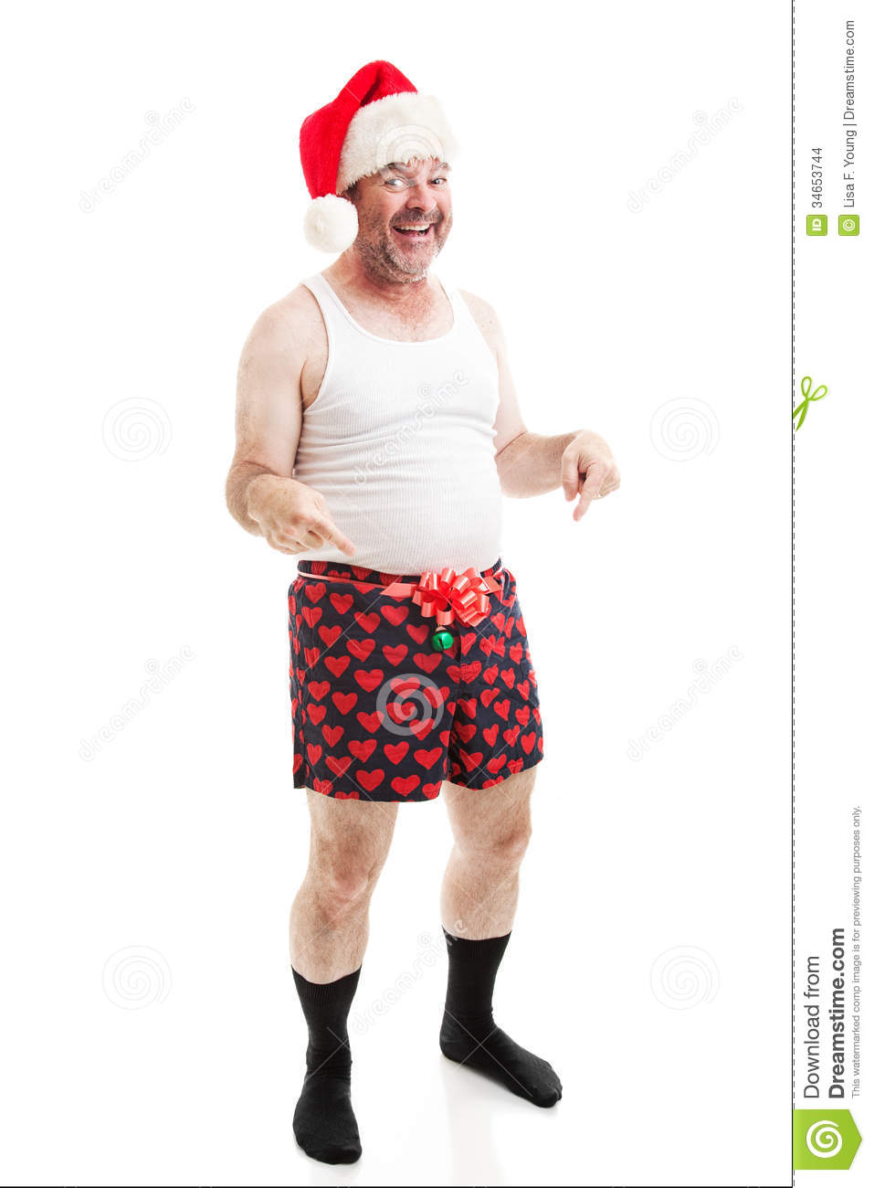 Grungy Looking Christmas Guy - Full Body Isolated Stock Images ...