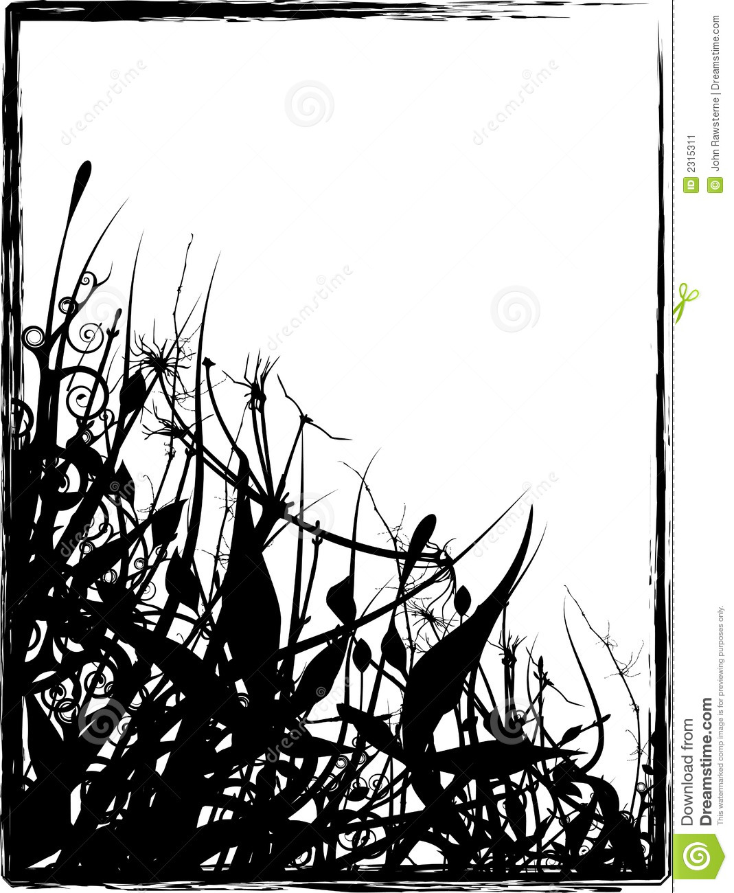 Grungy Organic Frame stock illustration. Illustration of painting ...