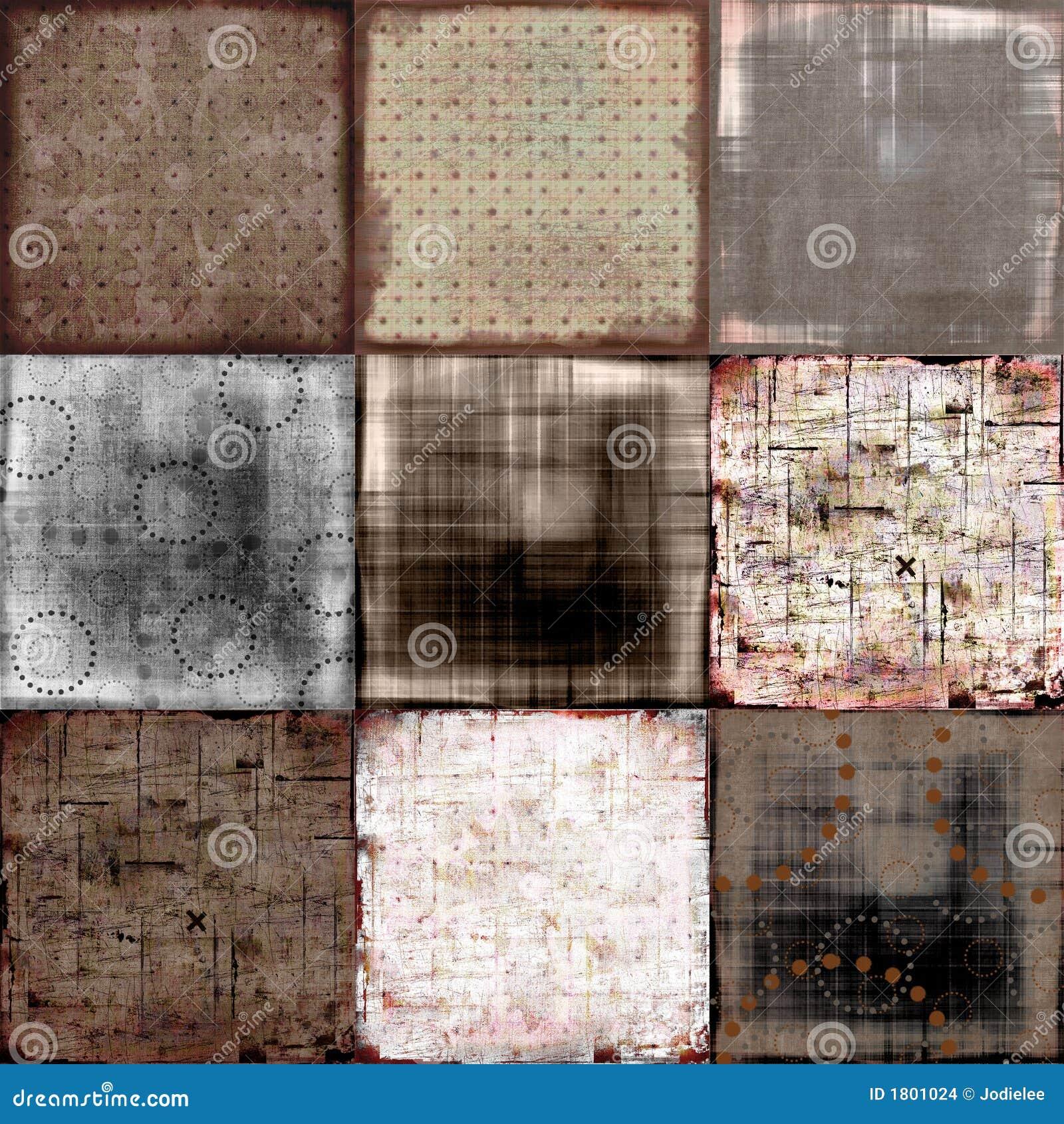 Grungy patchwork tło
