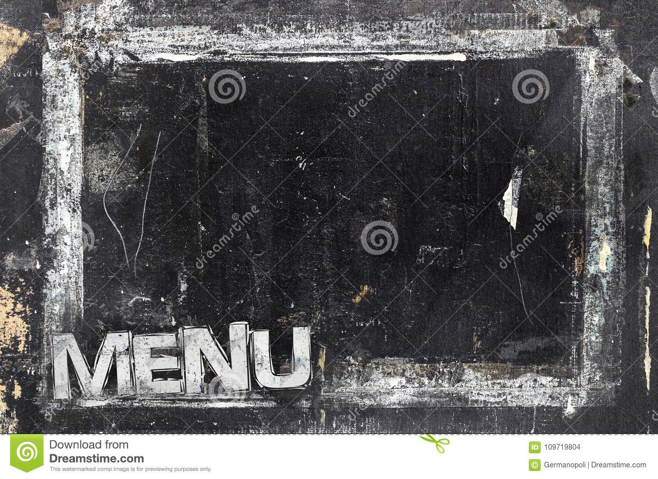 grungy restaurant menu template stock illustration illustration of