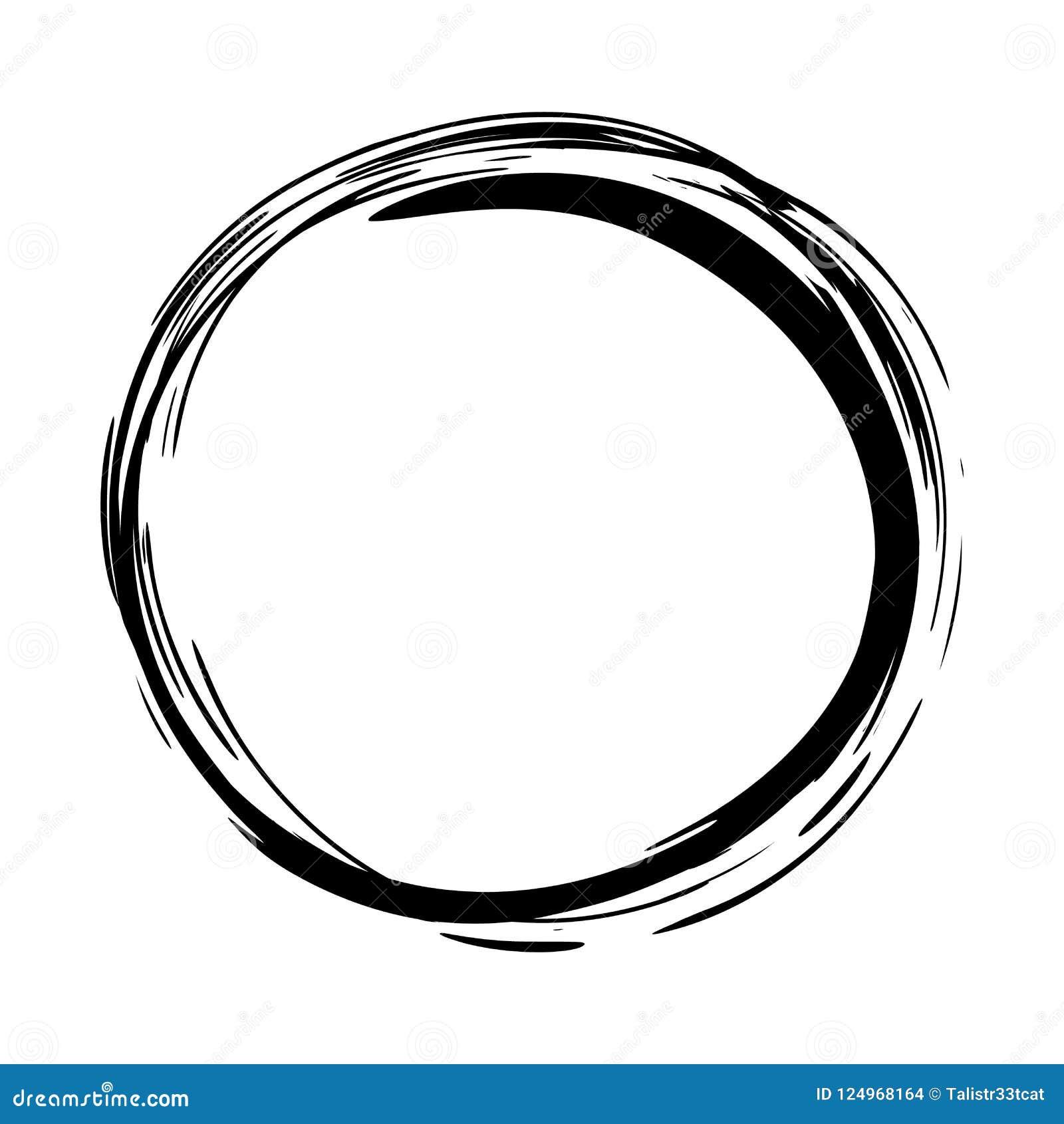 Grungy round ink circle