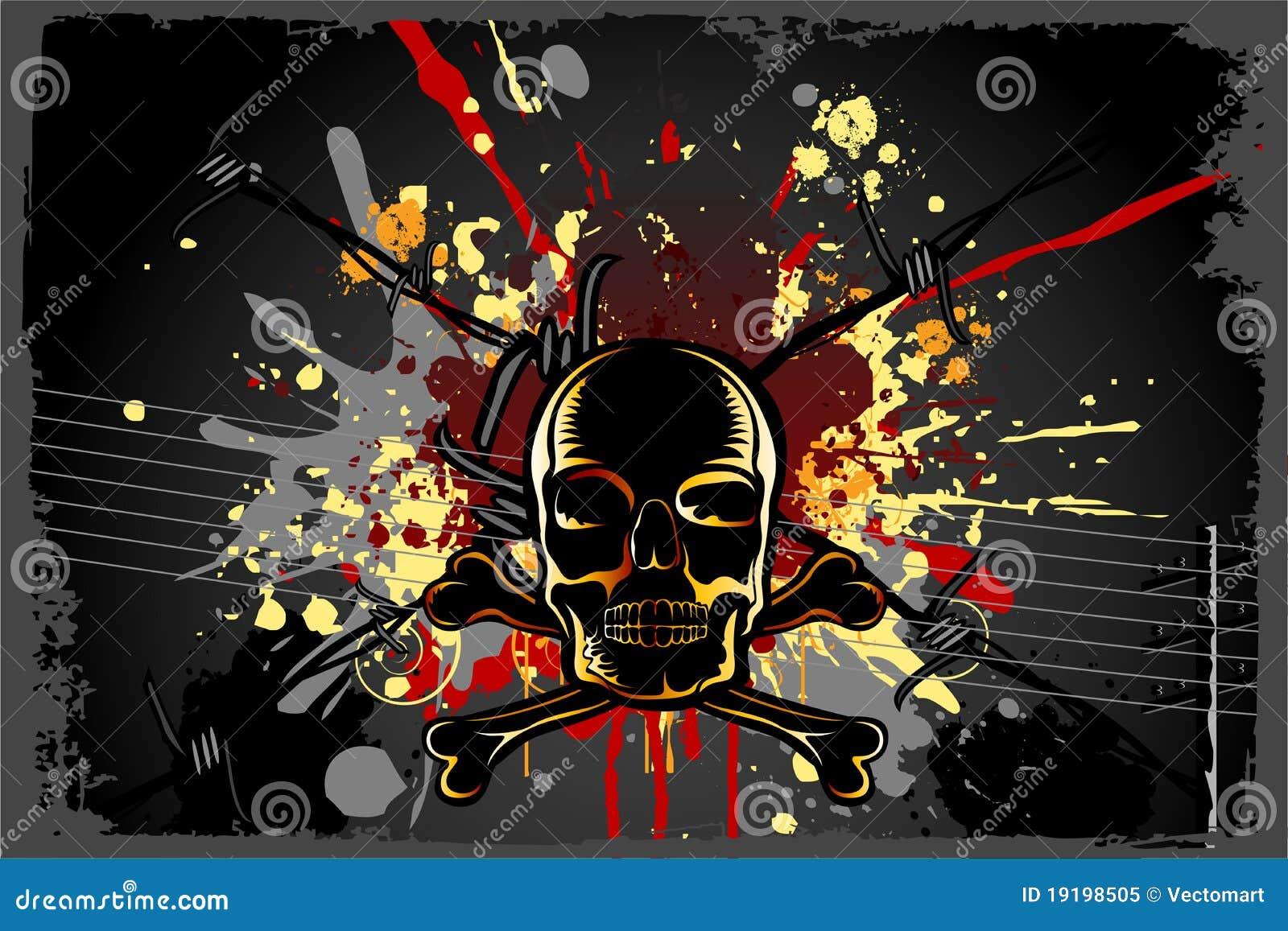 Grungy Schädel-Hintergrund