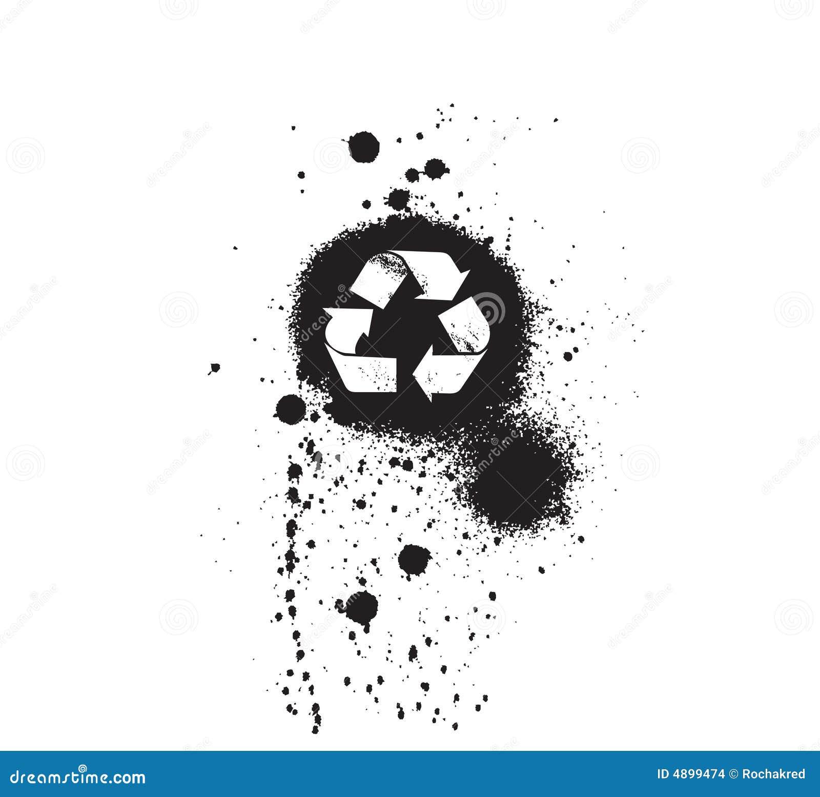 Grungy symbolssymbol för ekologi